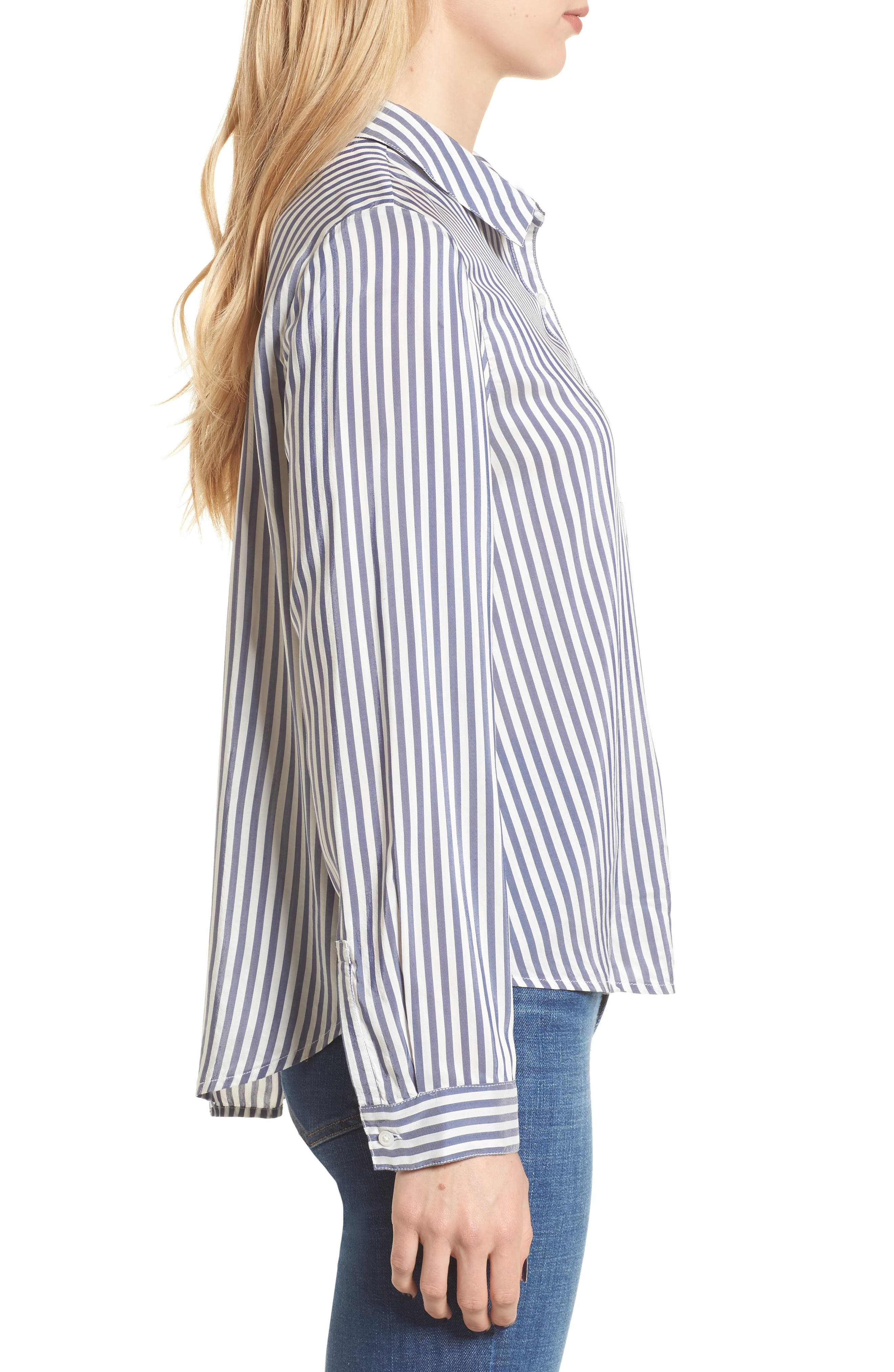 Stripe Shirt,                             Alternate thumbnail 3, color,                             Navy Evening Lucca Stripe