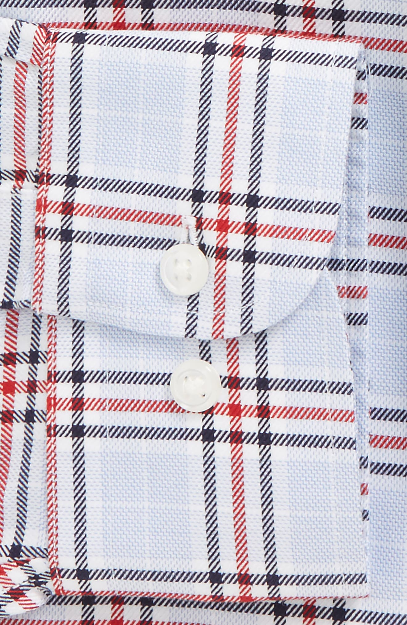 Smartcare<sup>™</sup> Traditional Fit Plaid Dress Shirt,                             Alternate thumbnail 5, color,                             Red Chili