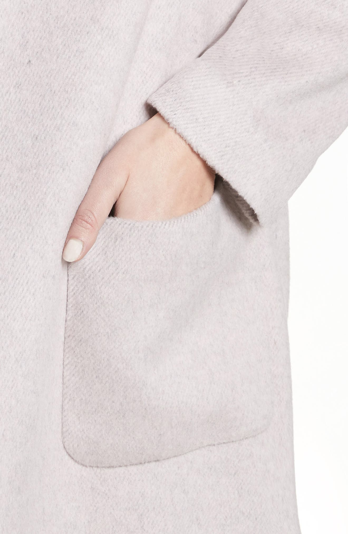 Edge to Edge Coat,                             Alternate thumbnail 4, color,                             Pale Pink