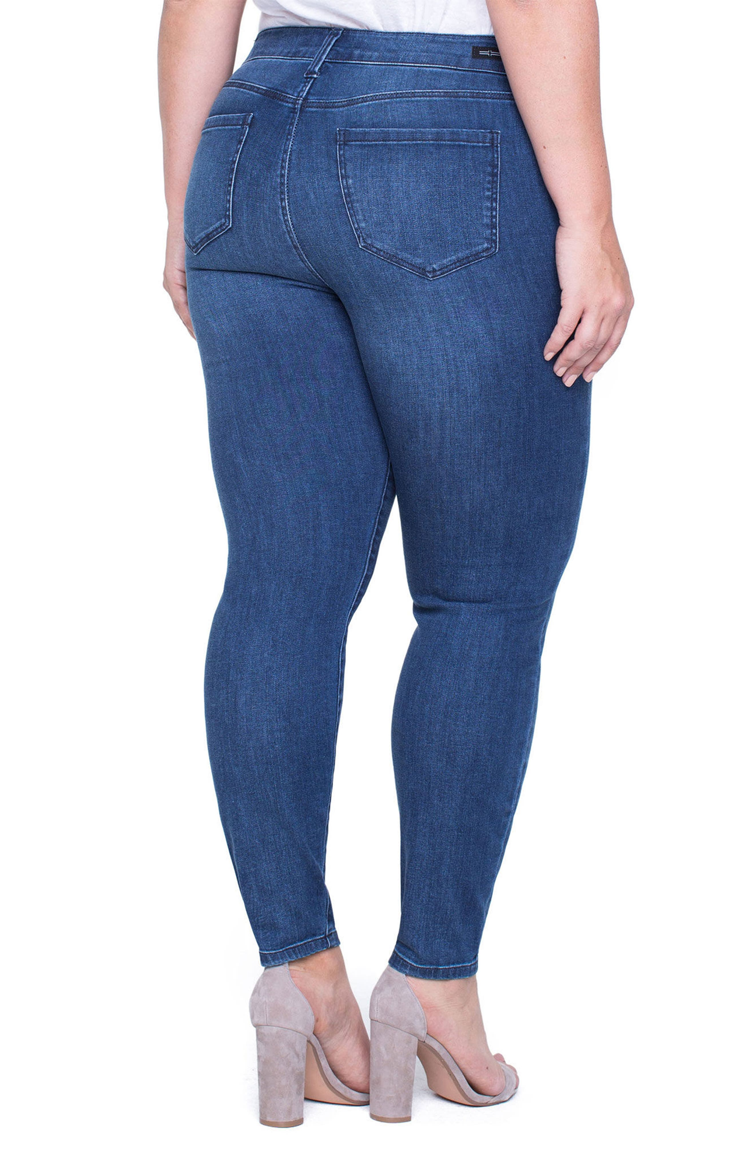Alternate Image 2  - Liverpool Jeans Company Penny Ripped Ankle Jeans (Fairmont) (Plus Size)