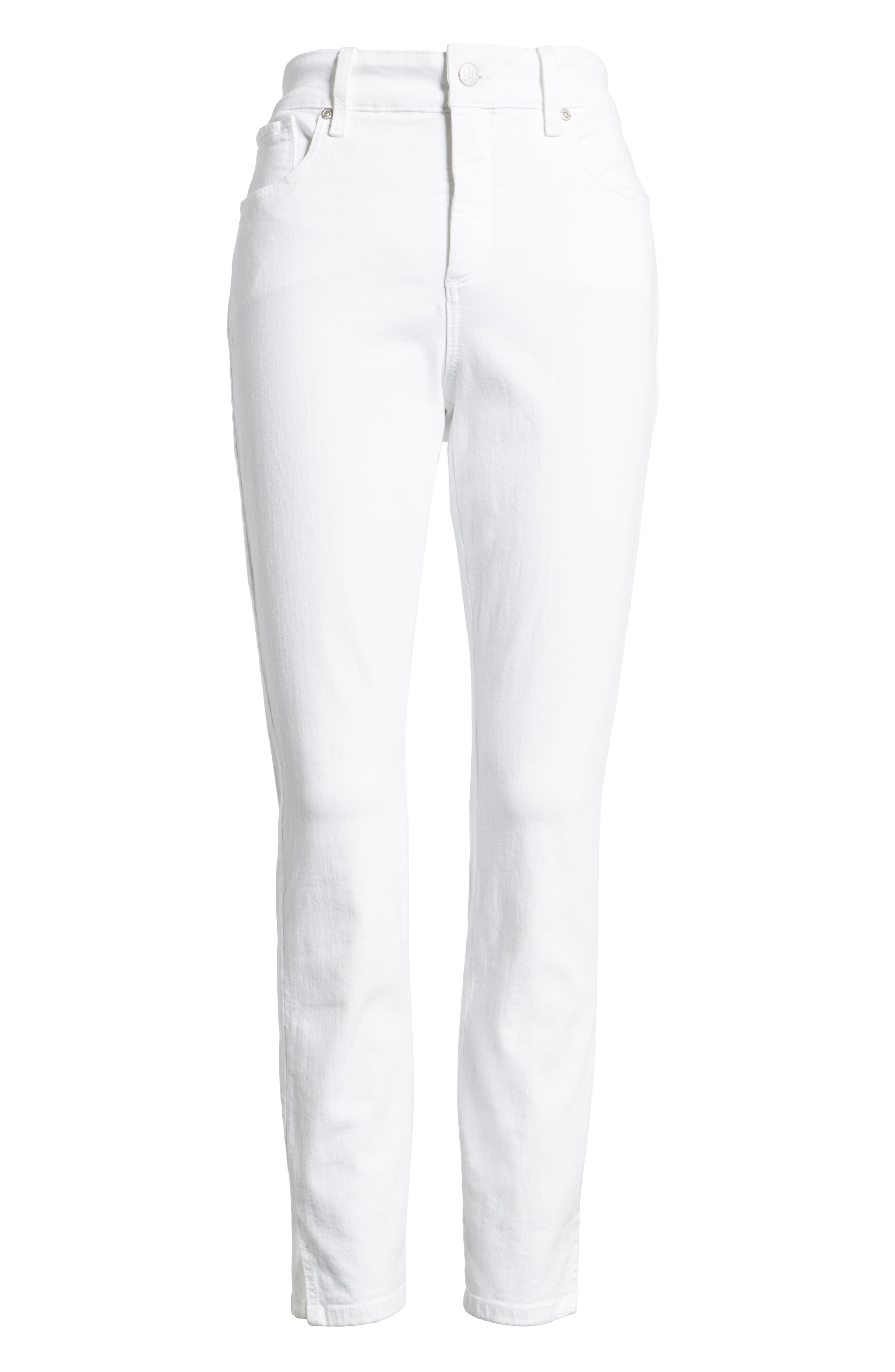 Ami Stretch Ankle Skinny Jeans,                             Alternate thumbnail 7, color,                             Optic White