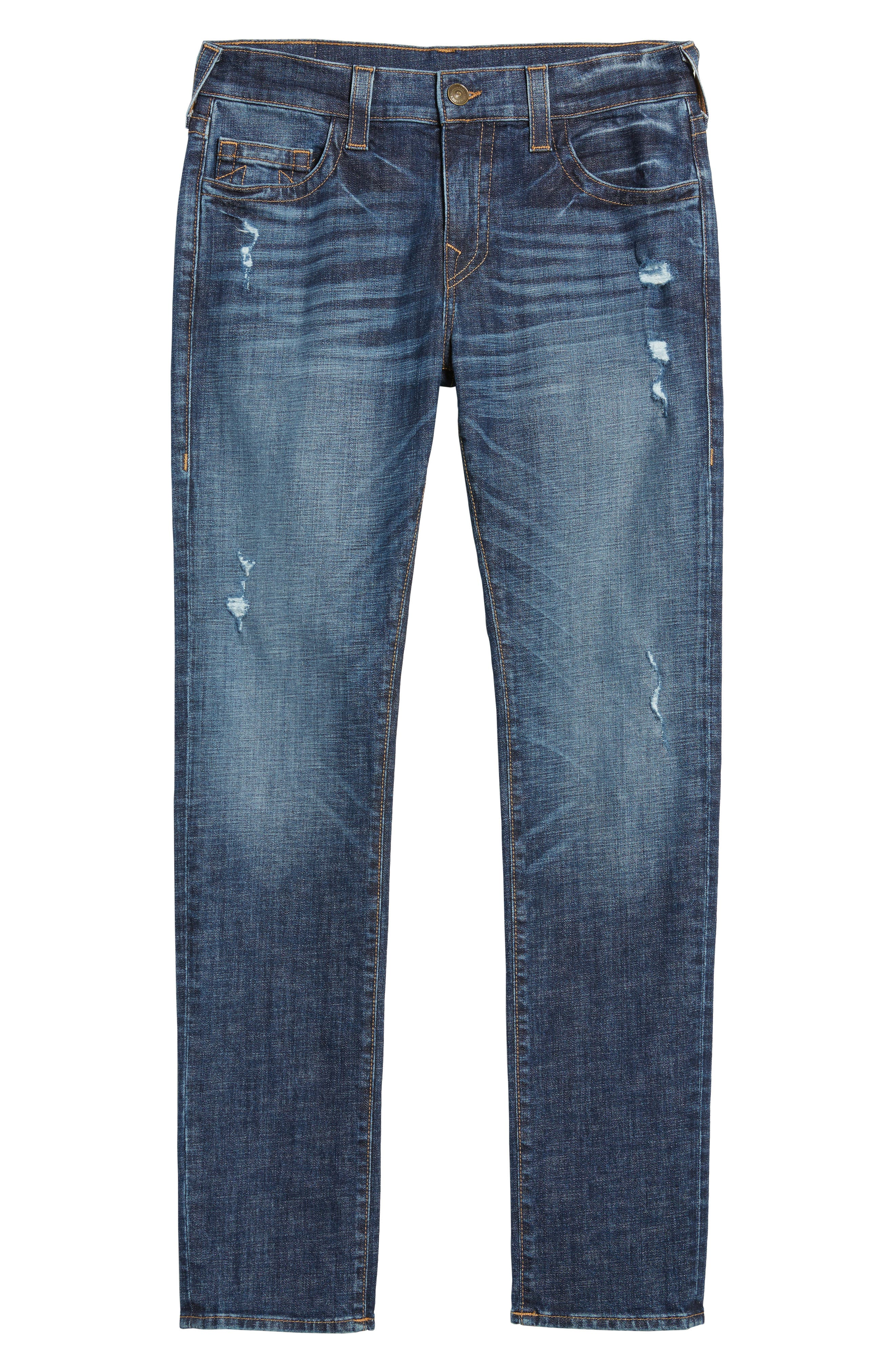 Rocco Skinny Fit Jeans,                             Alternate thumbnail 6, color,                             Dark Wash