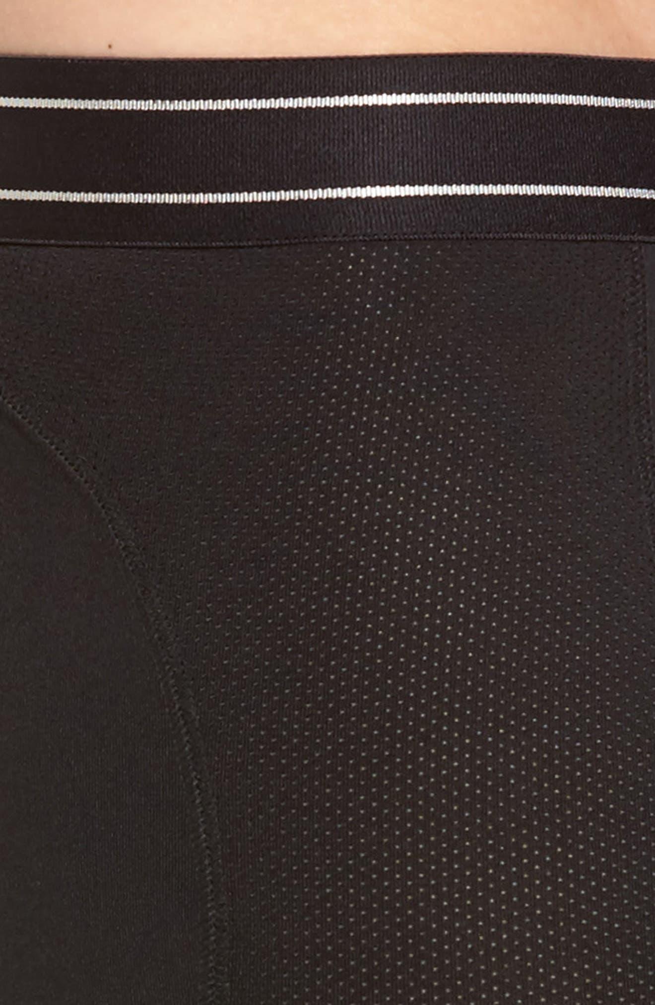 Tech-Smart Long Leg Boxer Briefs,                             Alternate thumbnail 4, color,                             Black
