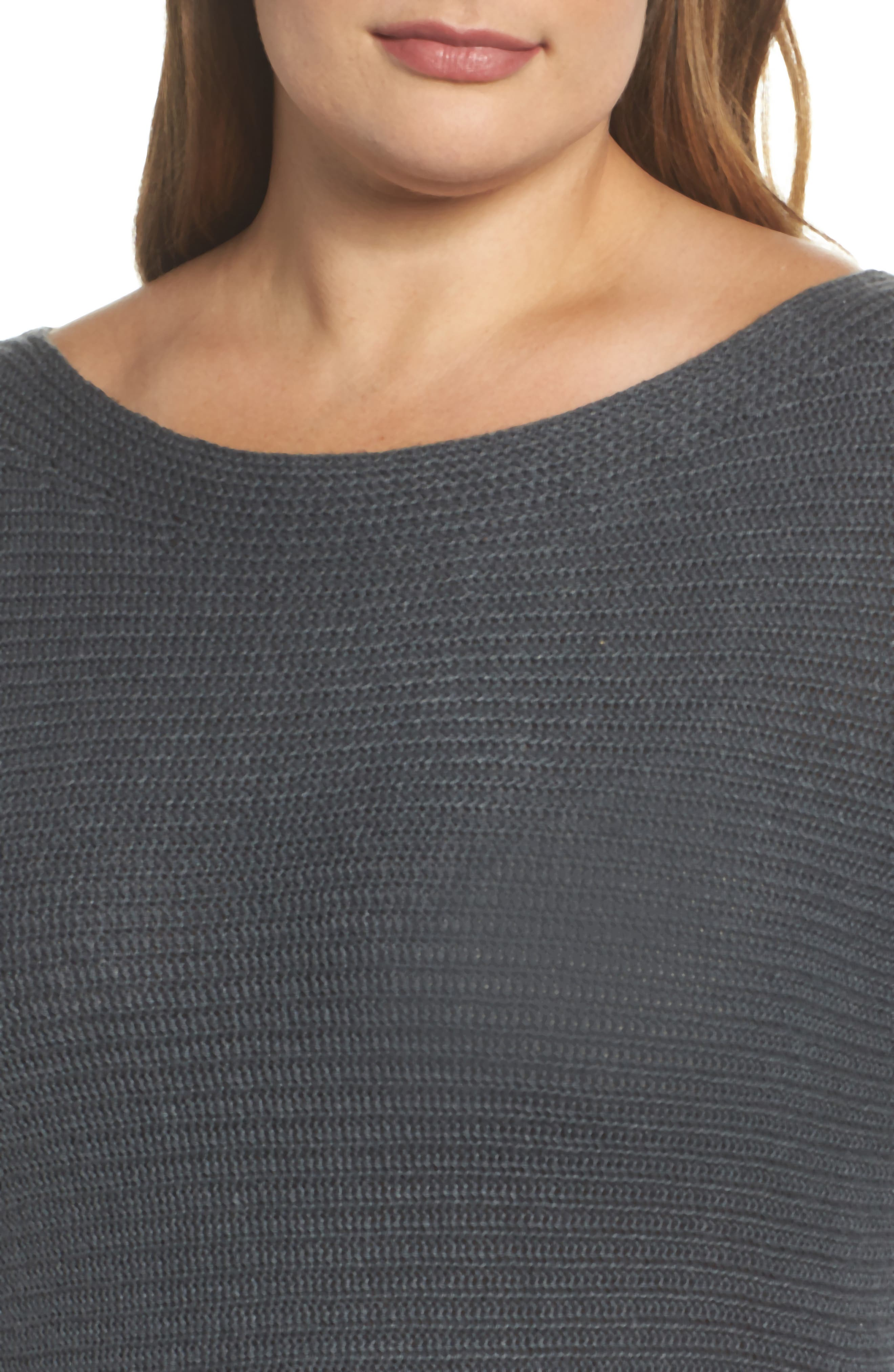 Off the Shoulder Sweater,                             Alternate thumbnail 4, color,                             Storm Grey