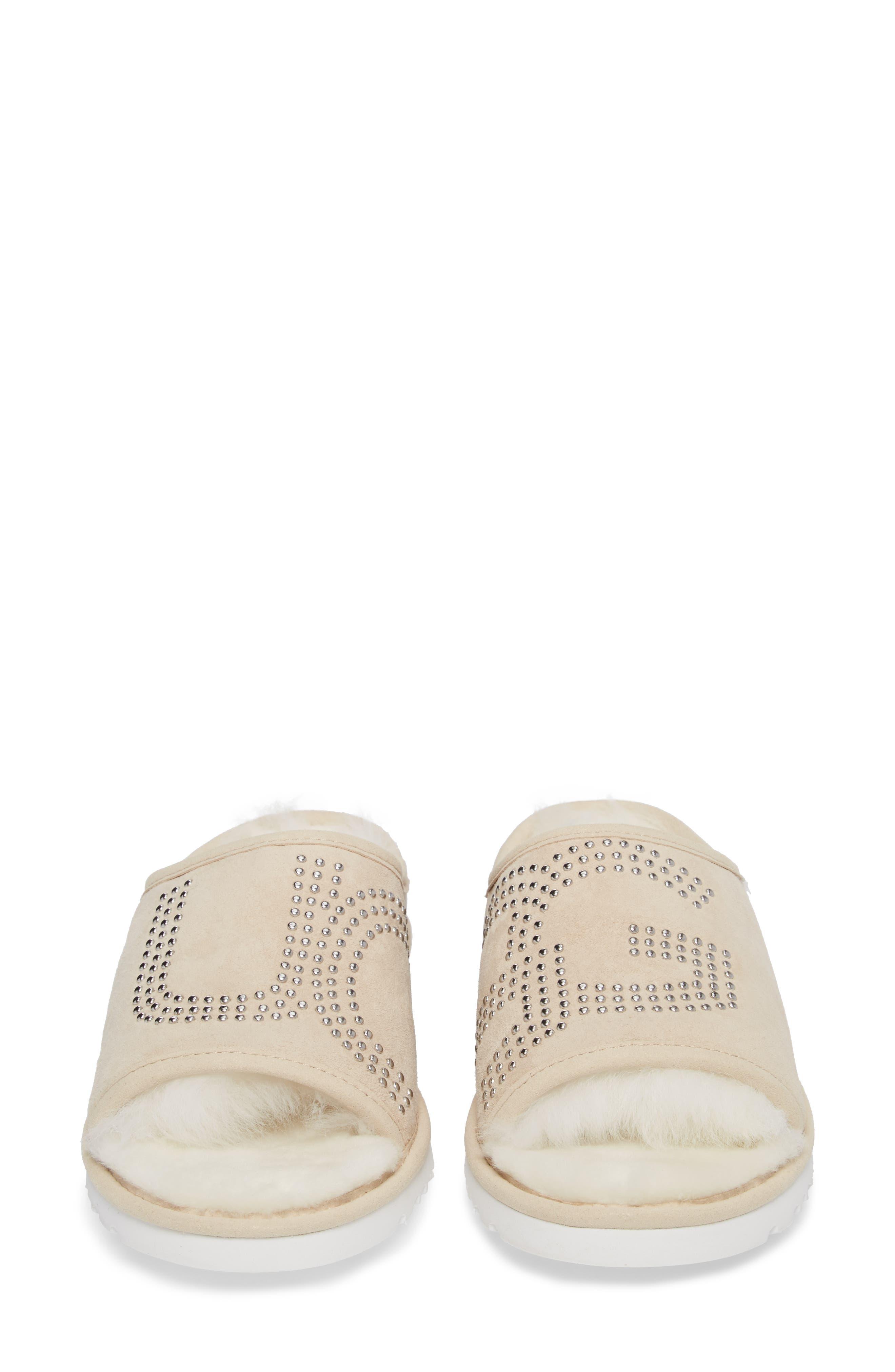 Alternate Image 4  - UGG® Logo Stud Slide Slipper (Women)