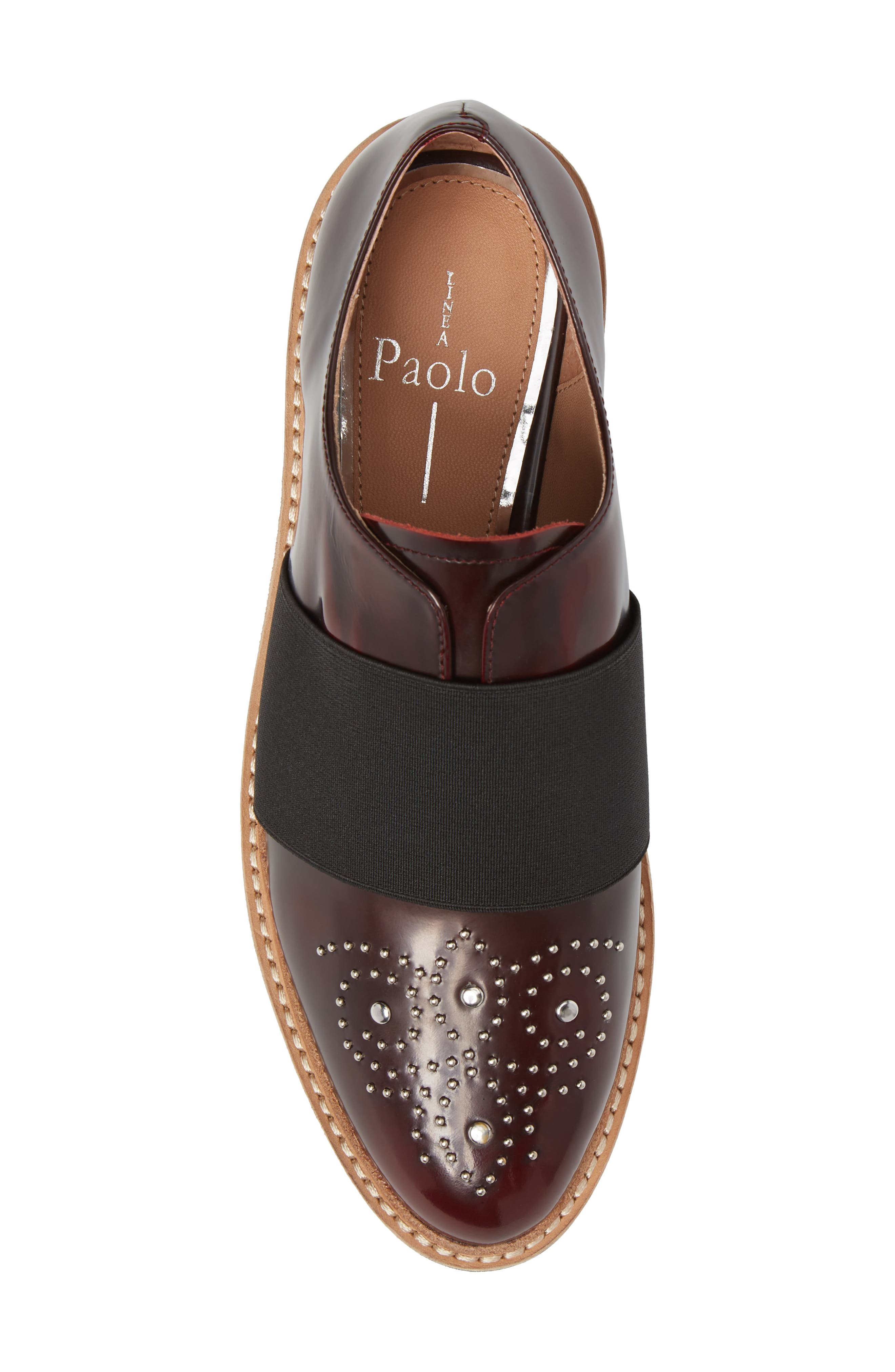 Jenna Platform Loafer,                             Alternate thumbnail 5, color,                             Burgundy Leather