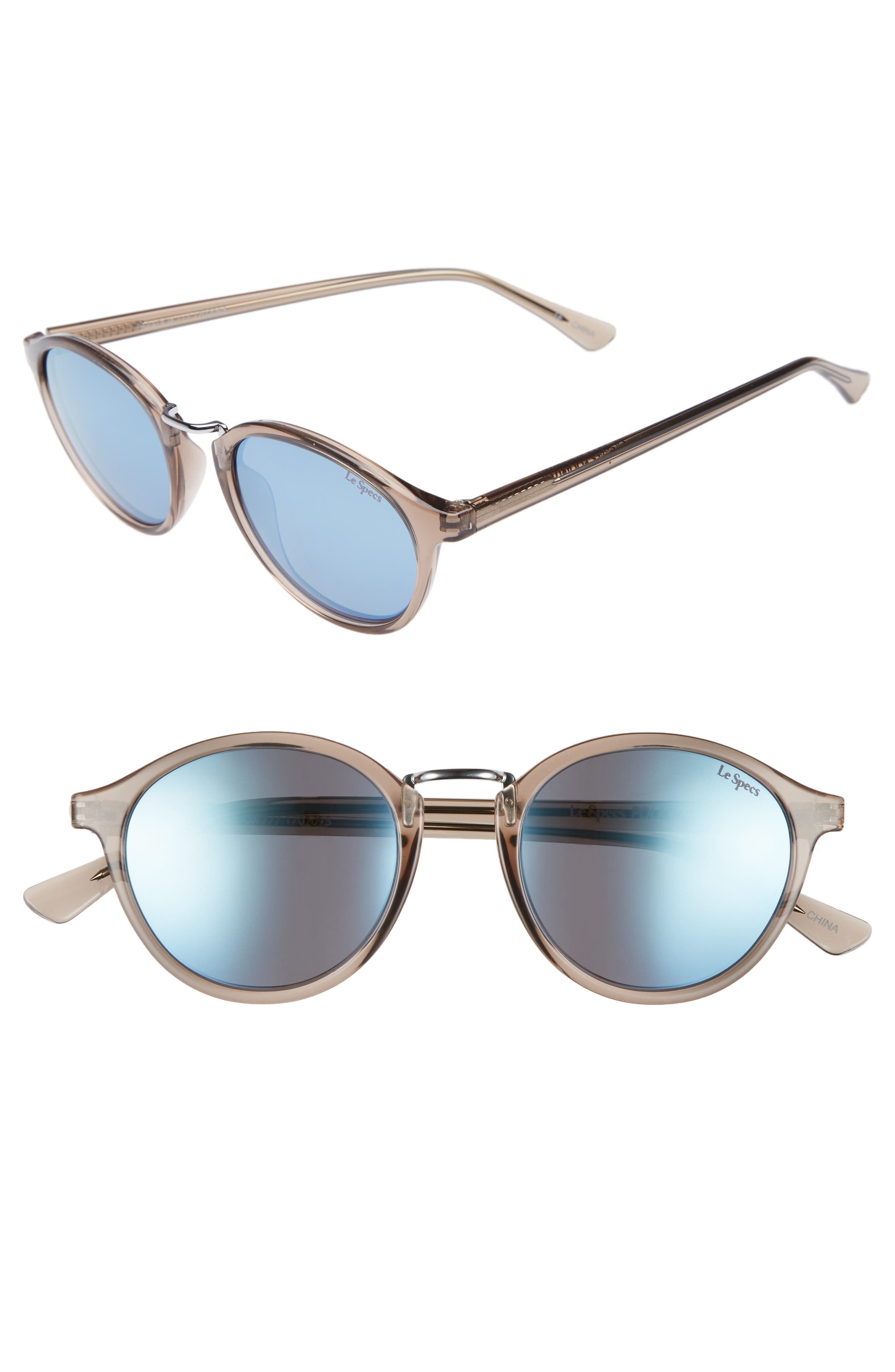 Paradox 49mm Oval Sunglasses,                         Main,                         color, Light Pebble