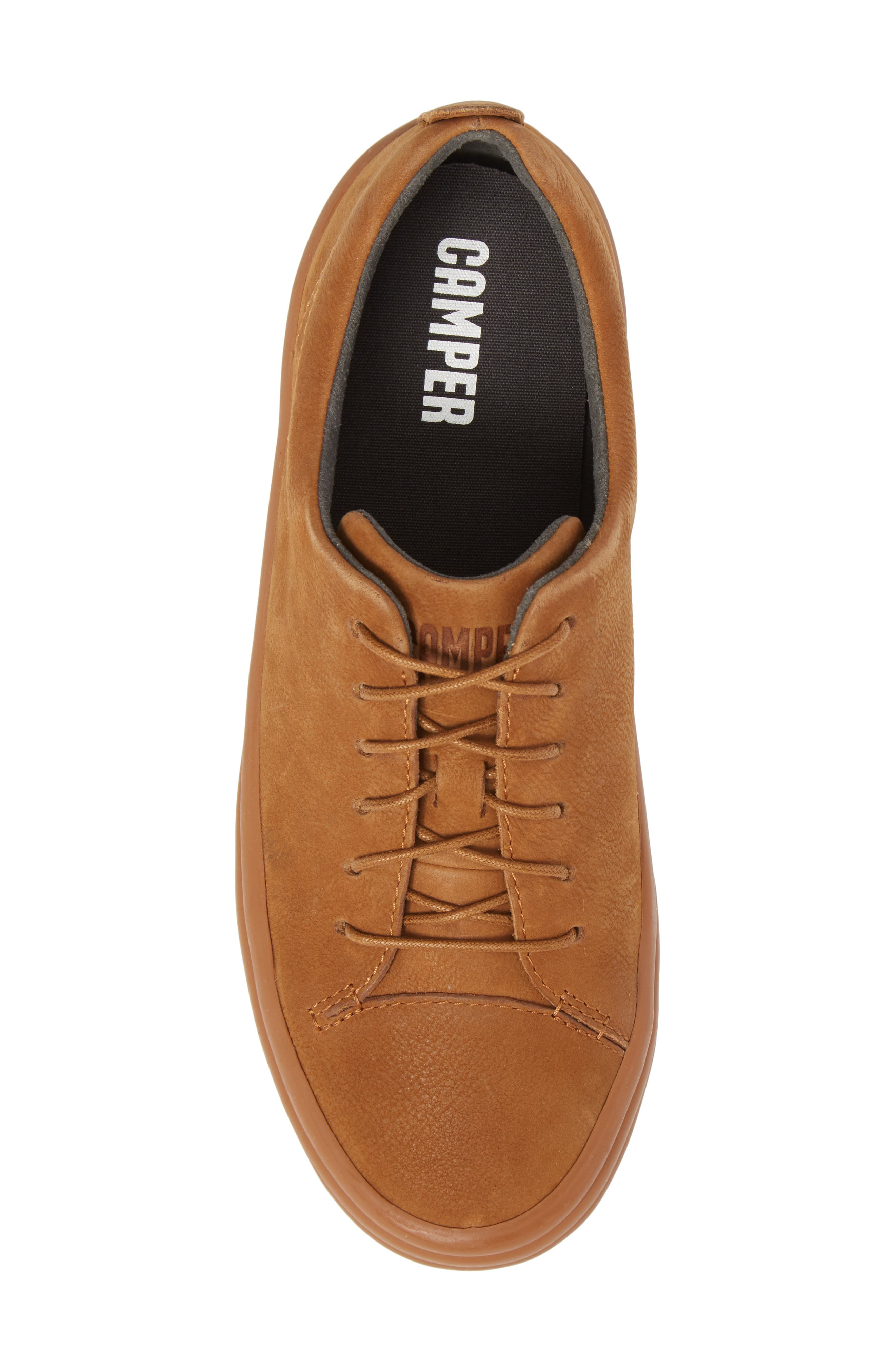 Hoops Sneaker,                             Alternate thumbnail 5, color,                             Rust/ Copper Leather