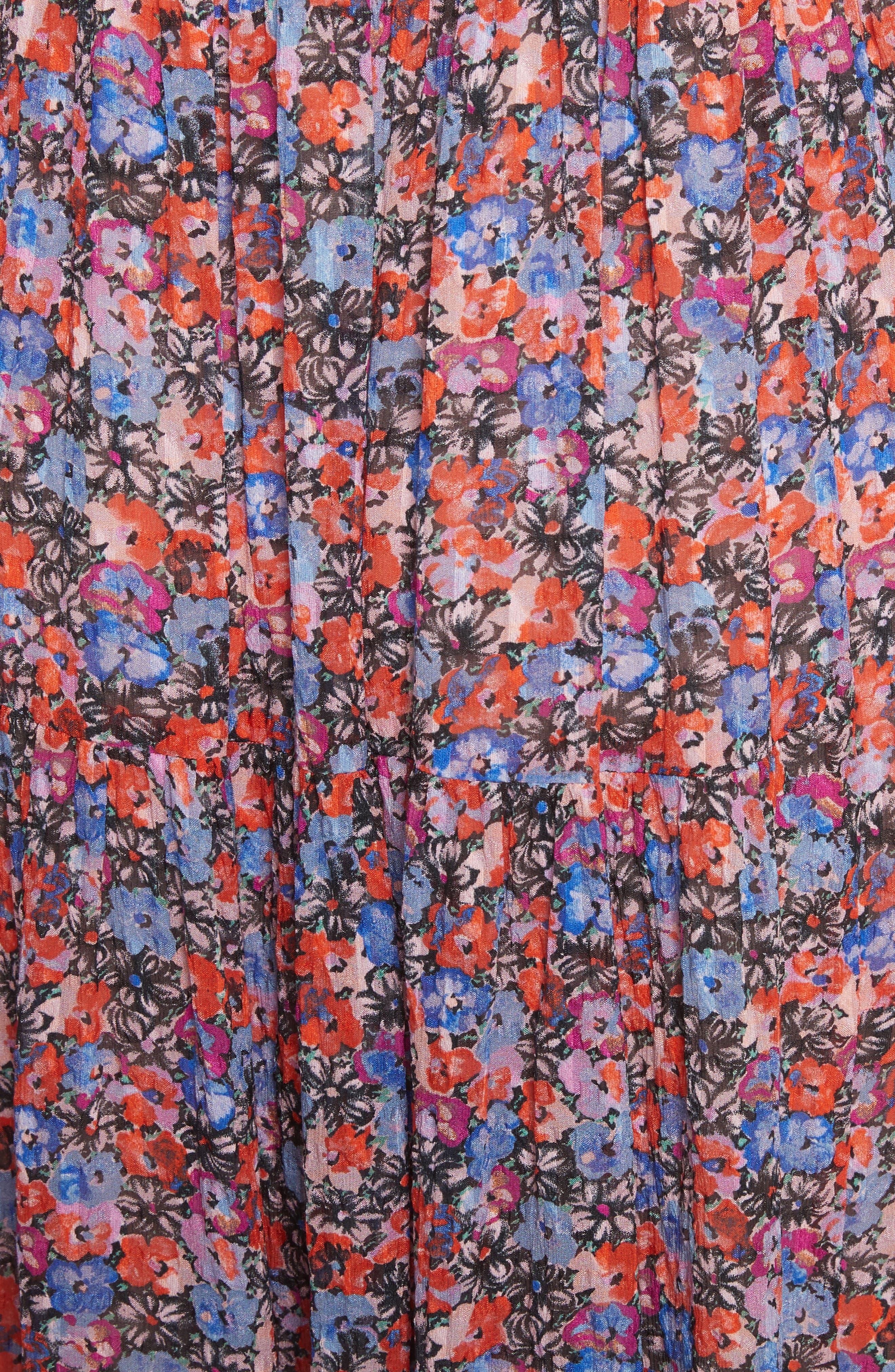 Alternate Image 6  - Rebecca Taylor Cosmic Fleur Maxi Dress