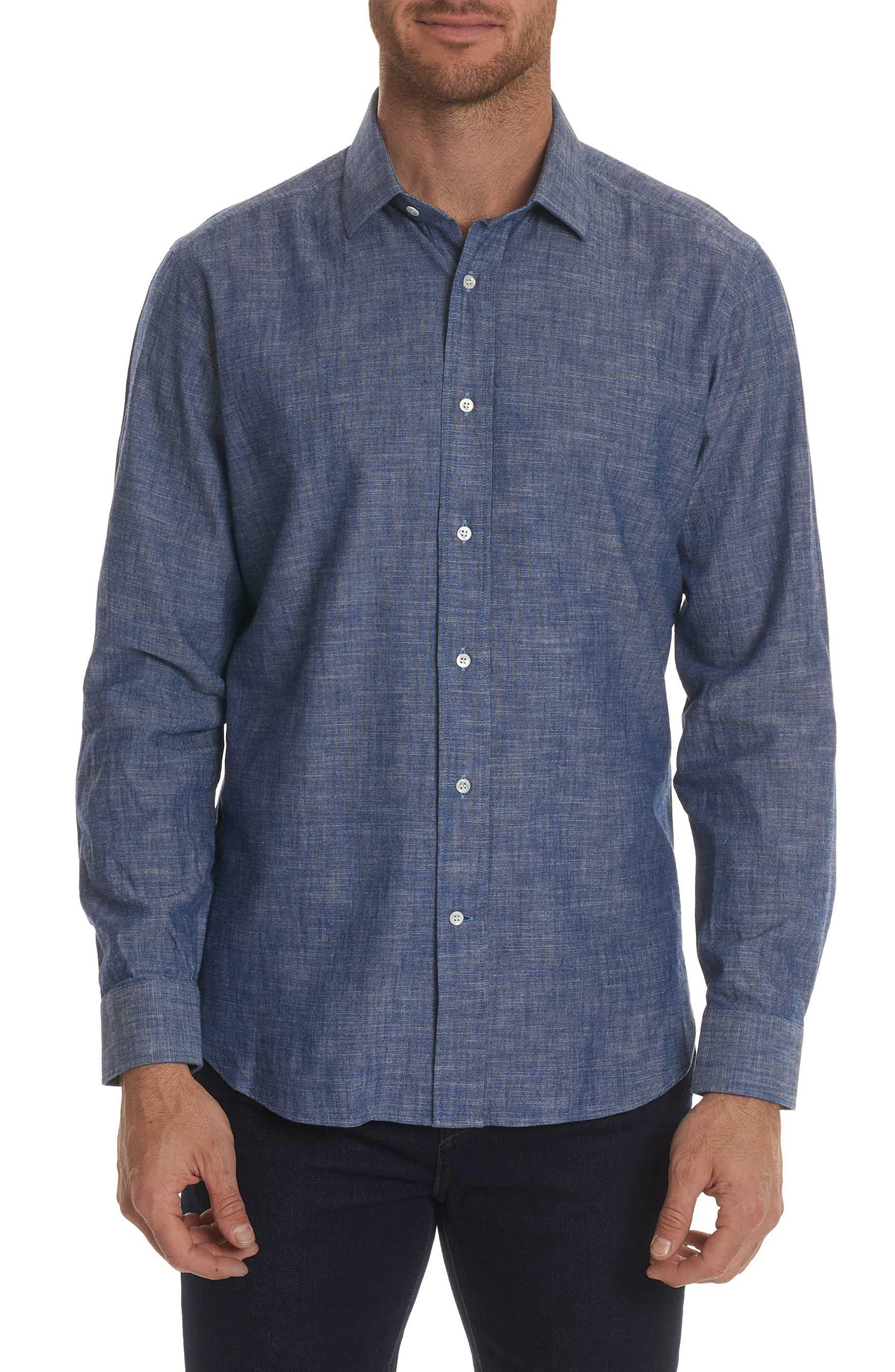 Peperill Regular Fit Sport Shirt,                         Main,                         color, Denim
