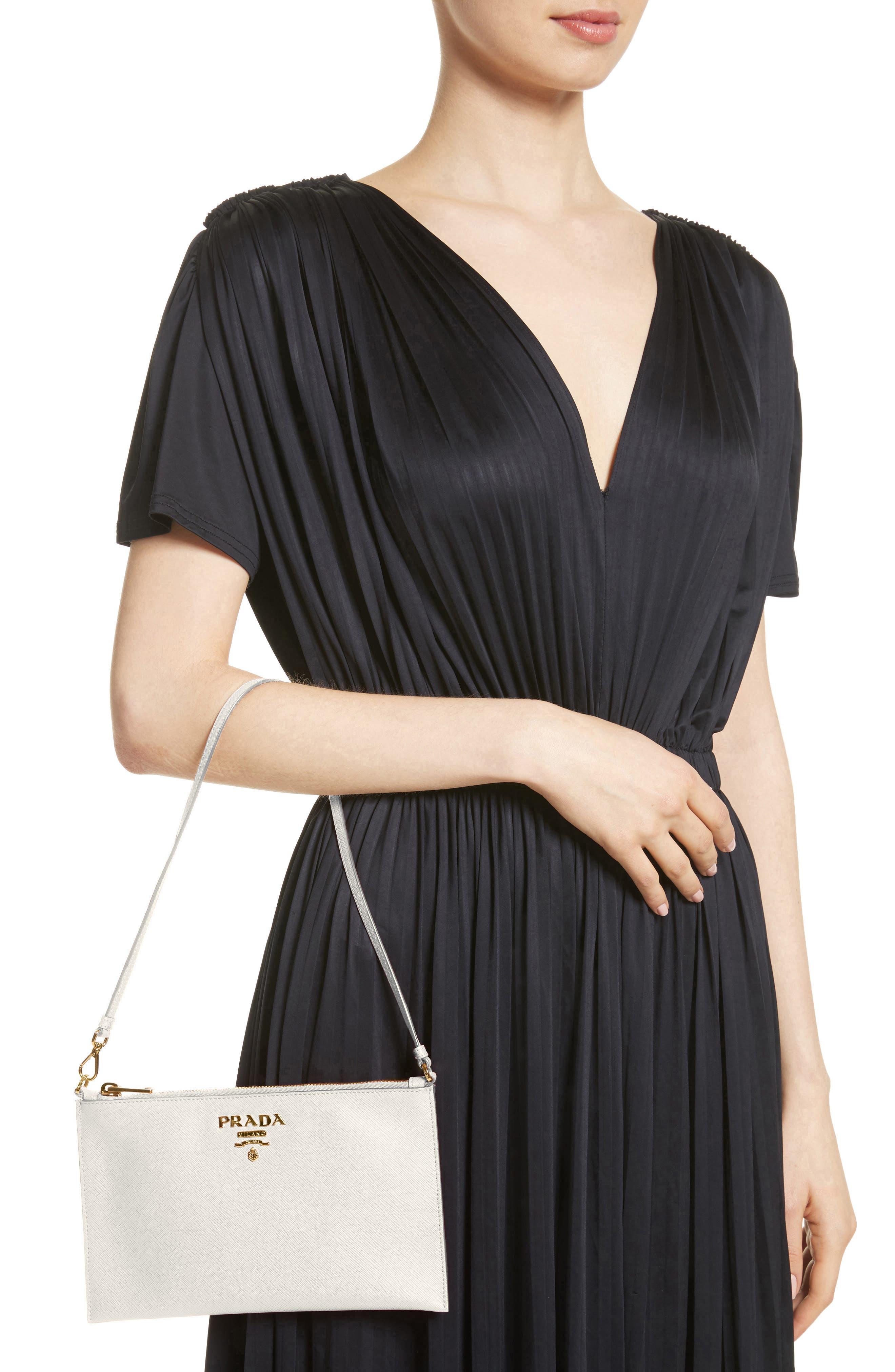 Saffiano Leather Shoulder Bag,                             Alternate thumbnail 2, color,                             F0009 Bianco