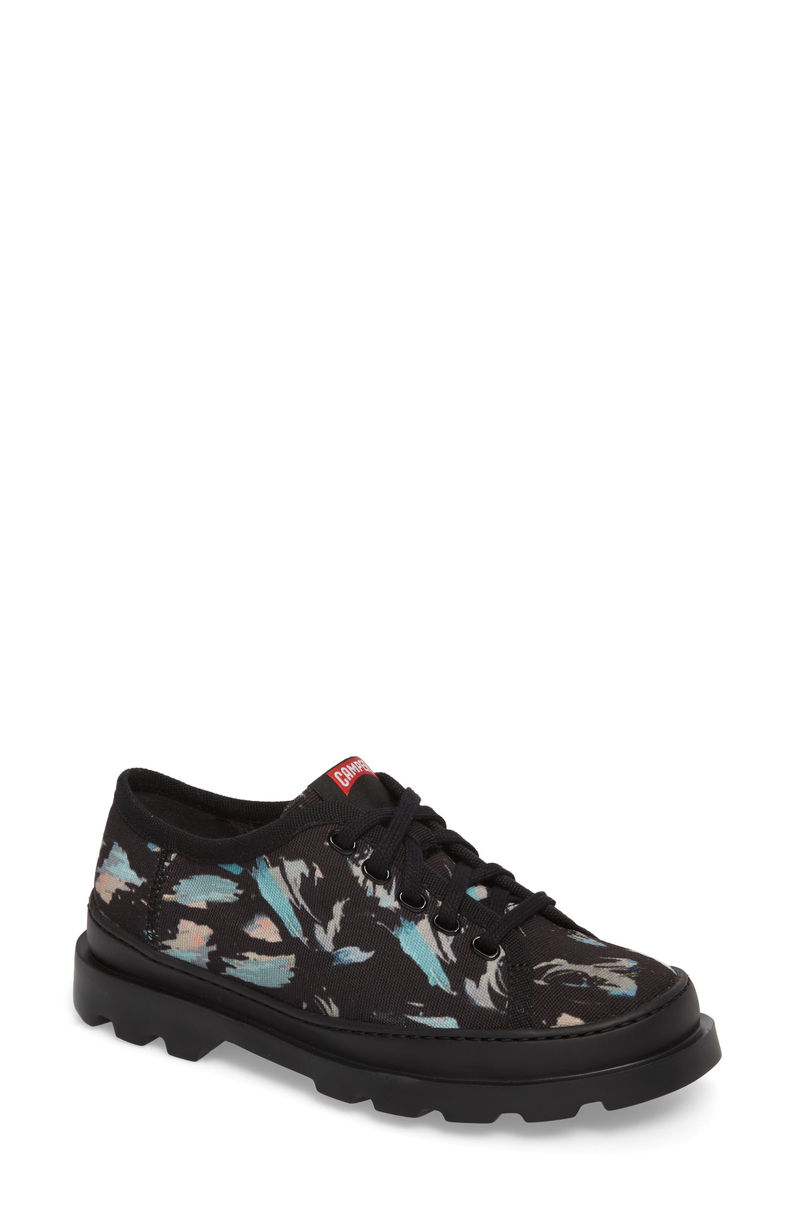 Brutus Lugged Platform Sneaker,                             Main thumbnail 1, color,                             Black Multi