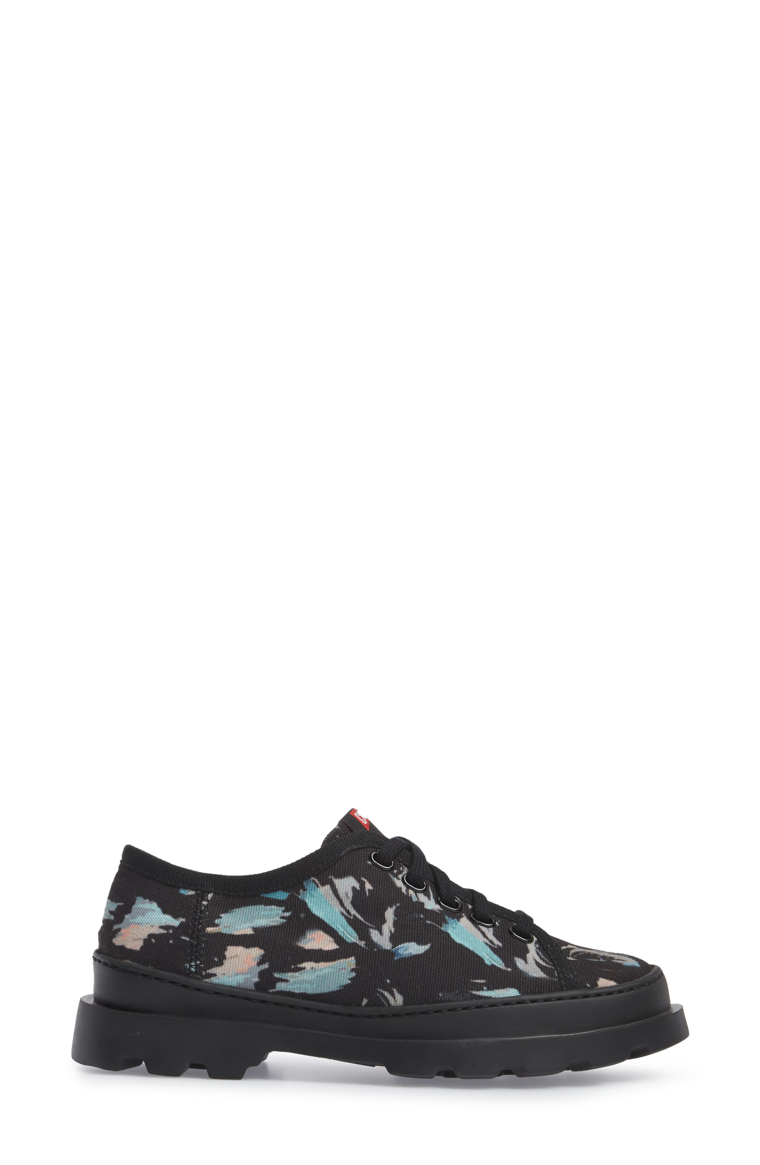 Brutus Lugged Platform Sneaker,                             Alternate thumbnail 3, color,                             Black Multi