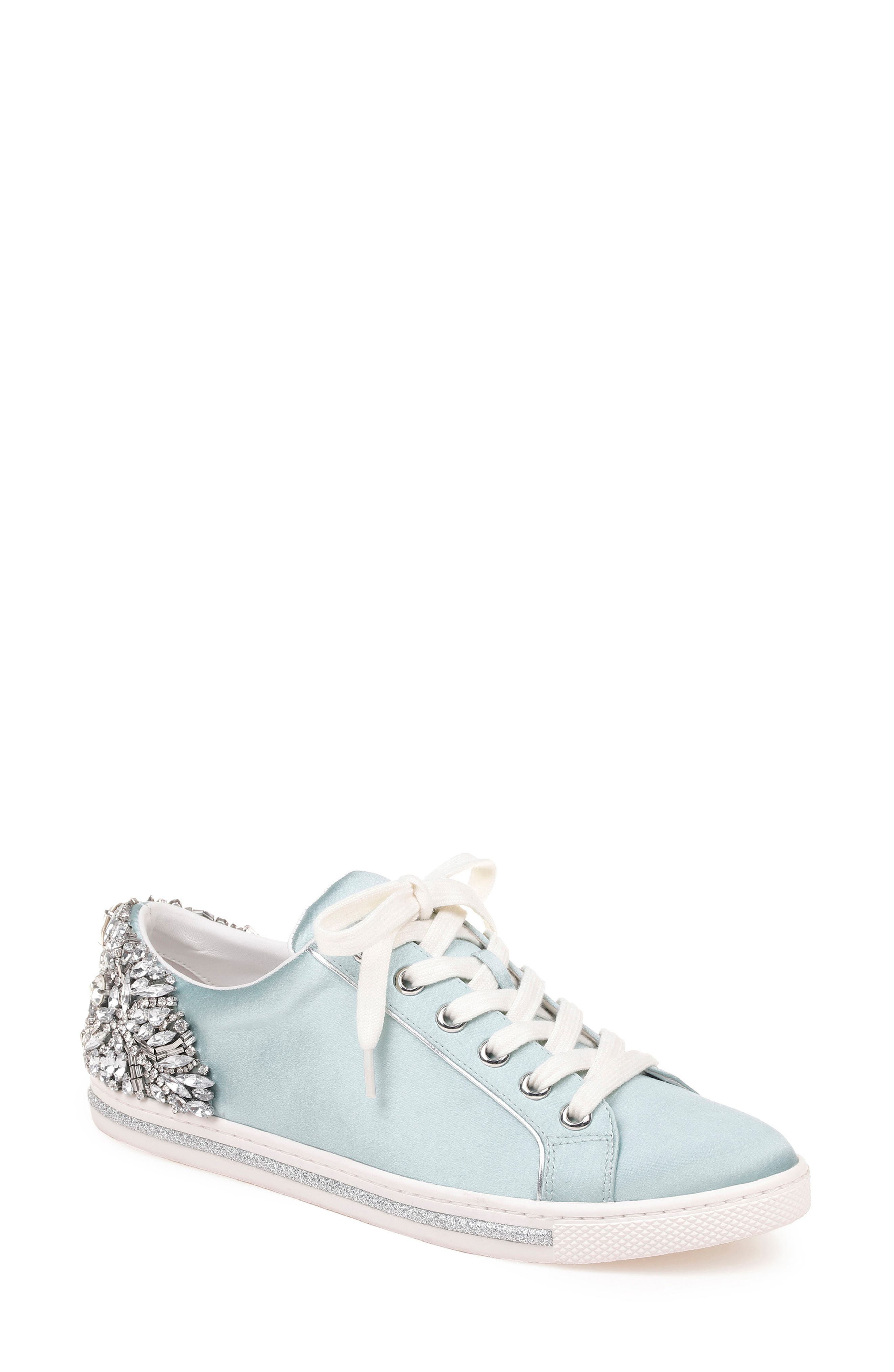 Badgley Mischka Shirley Crystal Embellished Sneaker (Women)