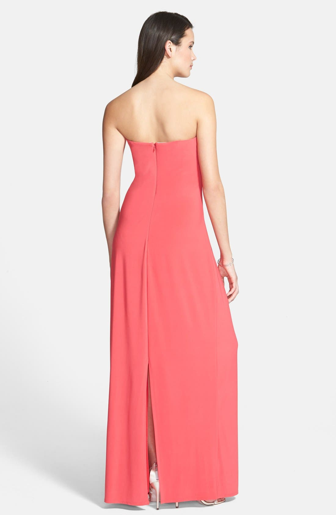 Alternate Image 2  - Laundry by Shelli Segal Pleated Matte Jersey Gown