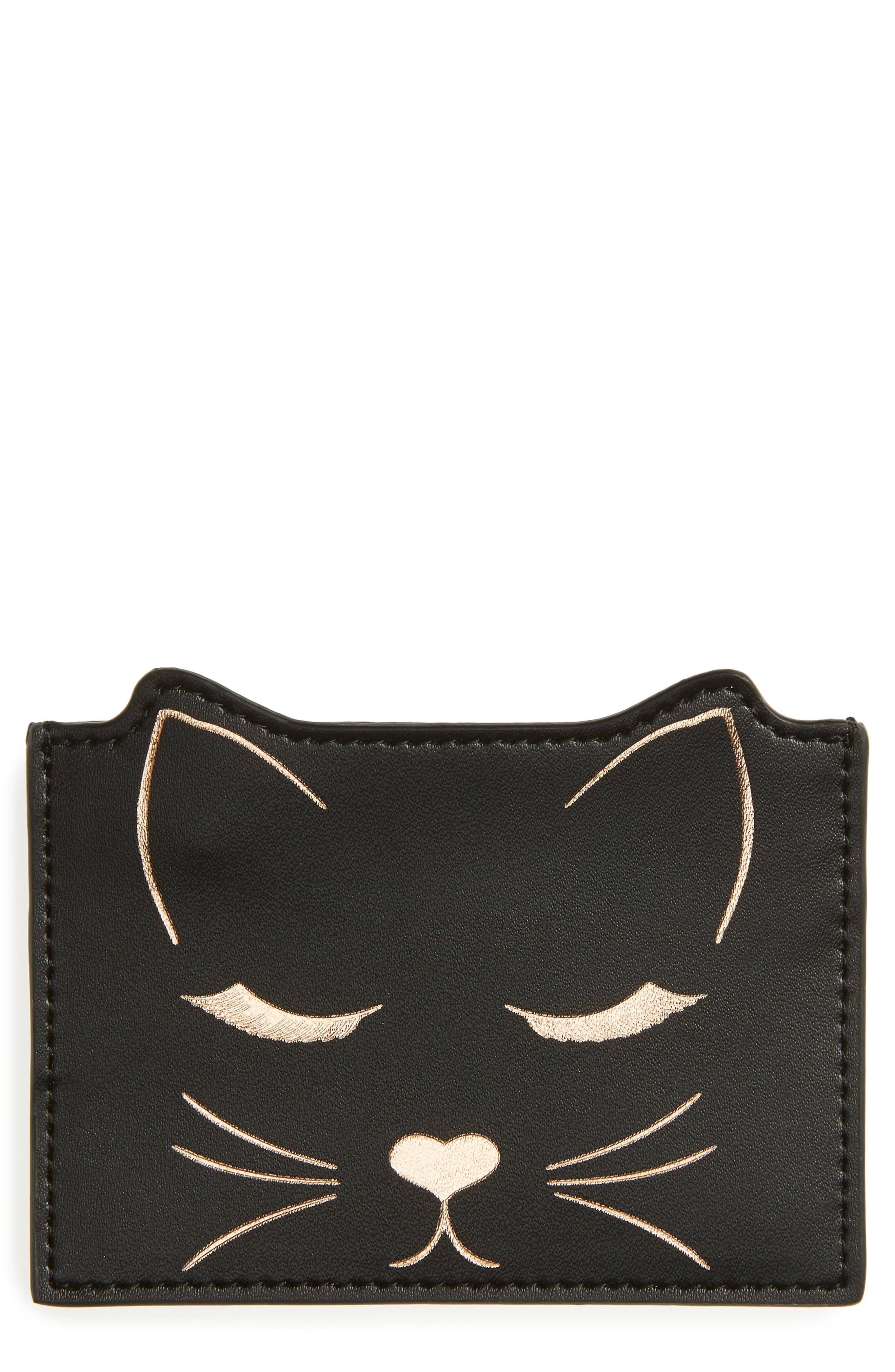 Ted Baker London Toniya Cat Leather Card Holder
