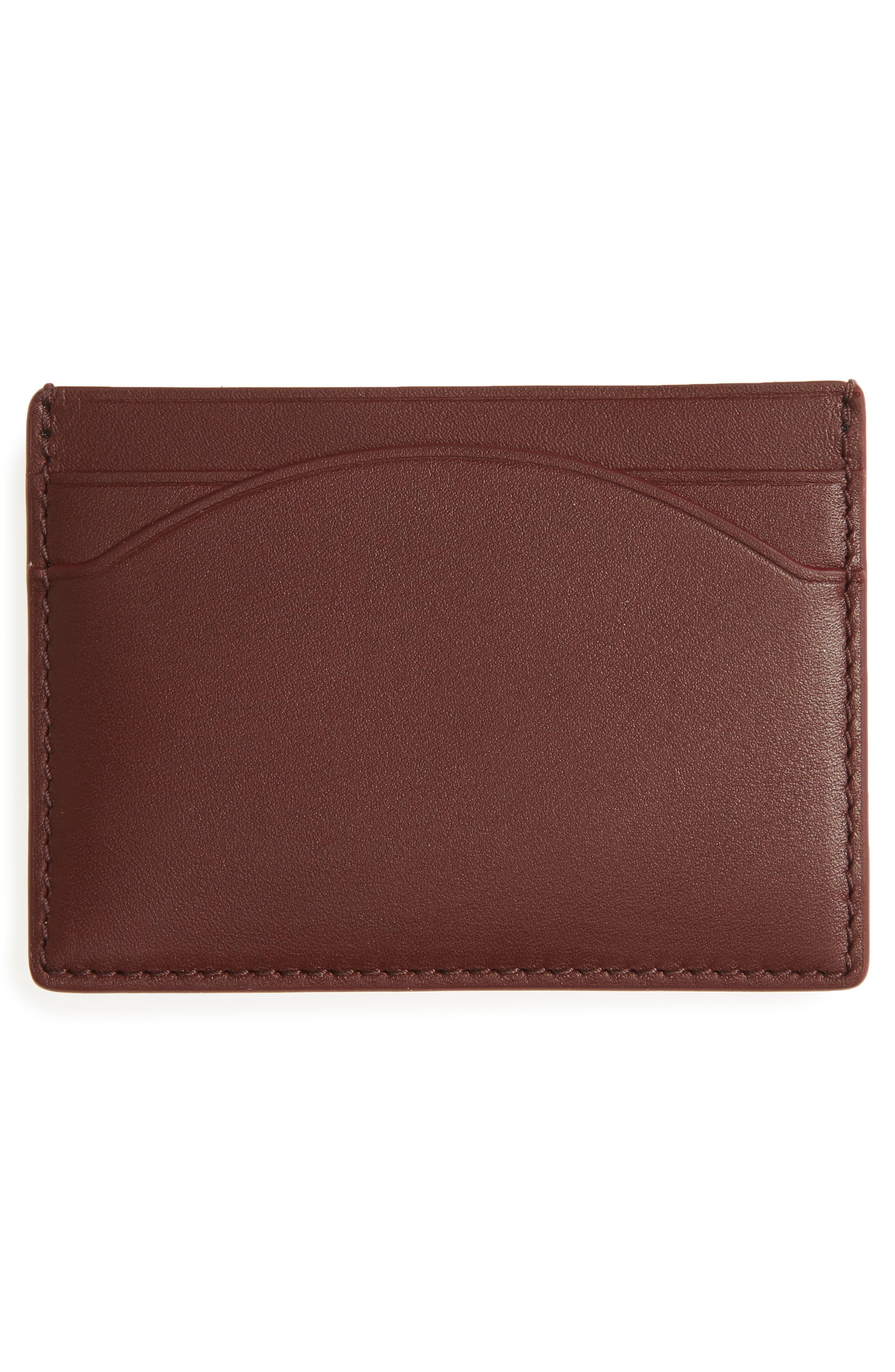 Alternate Image 2  - Skagen Leather Card Case