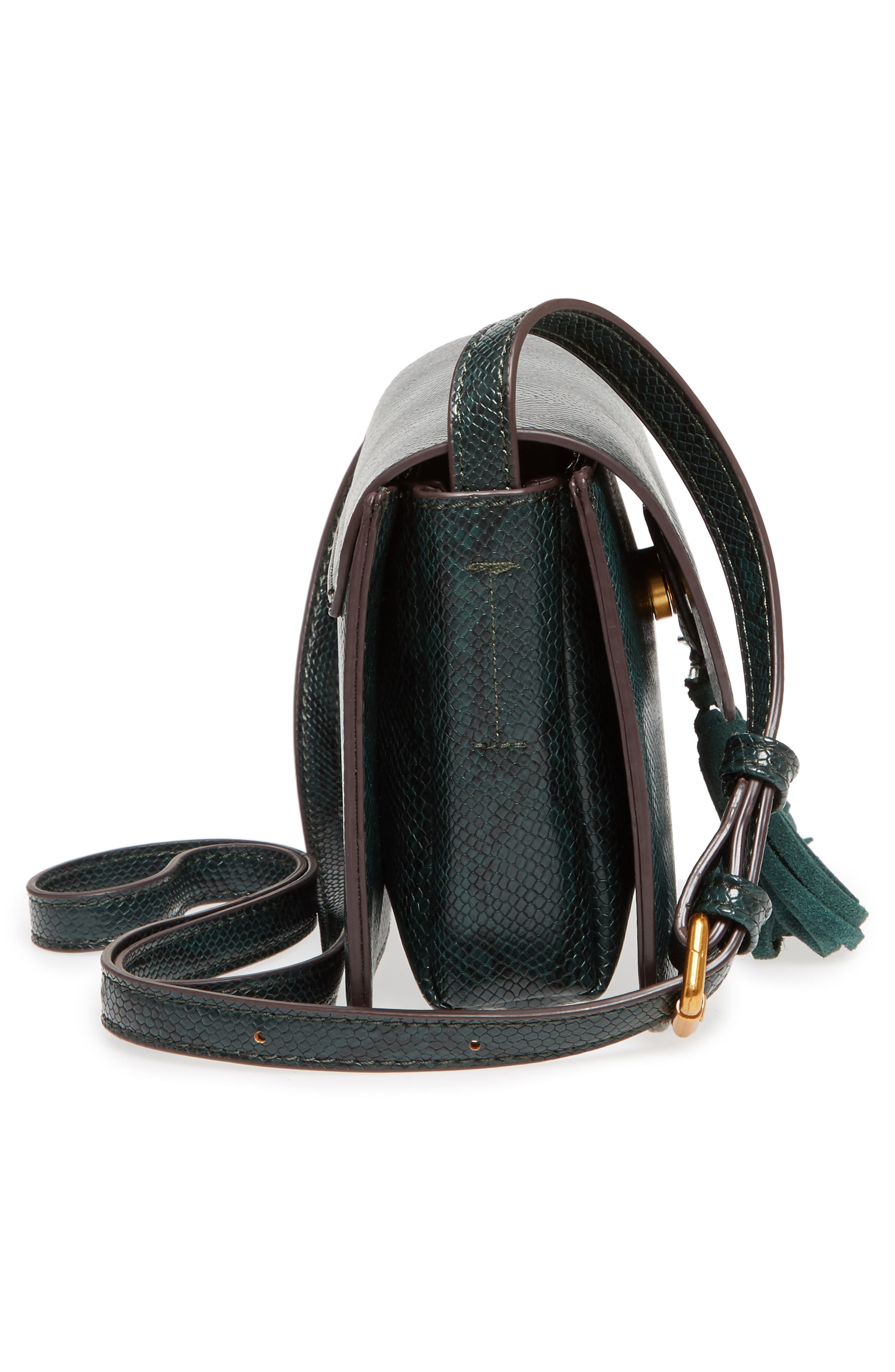 Alternate Image 4  - Street Level Snake Embossed Faux Leather Crossbody Bag