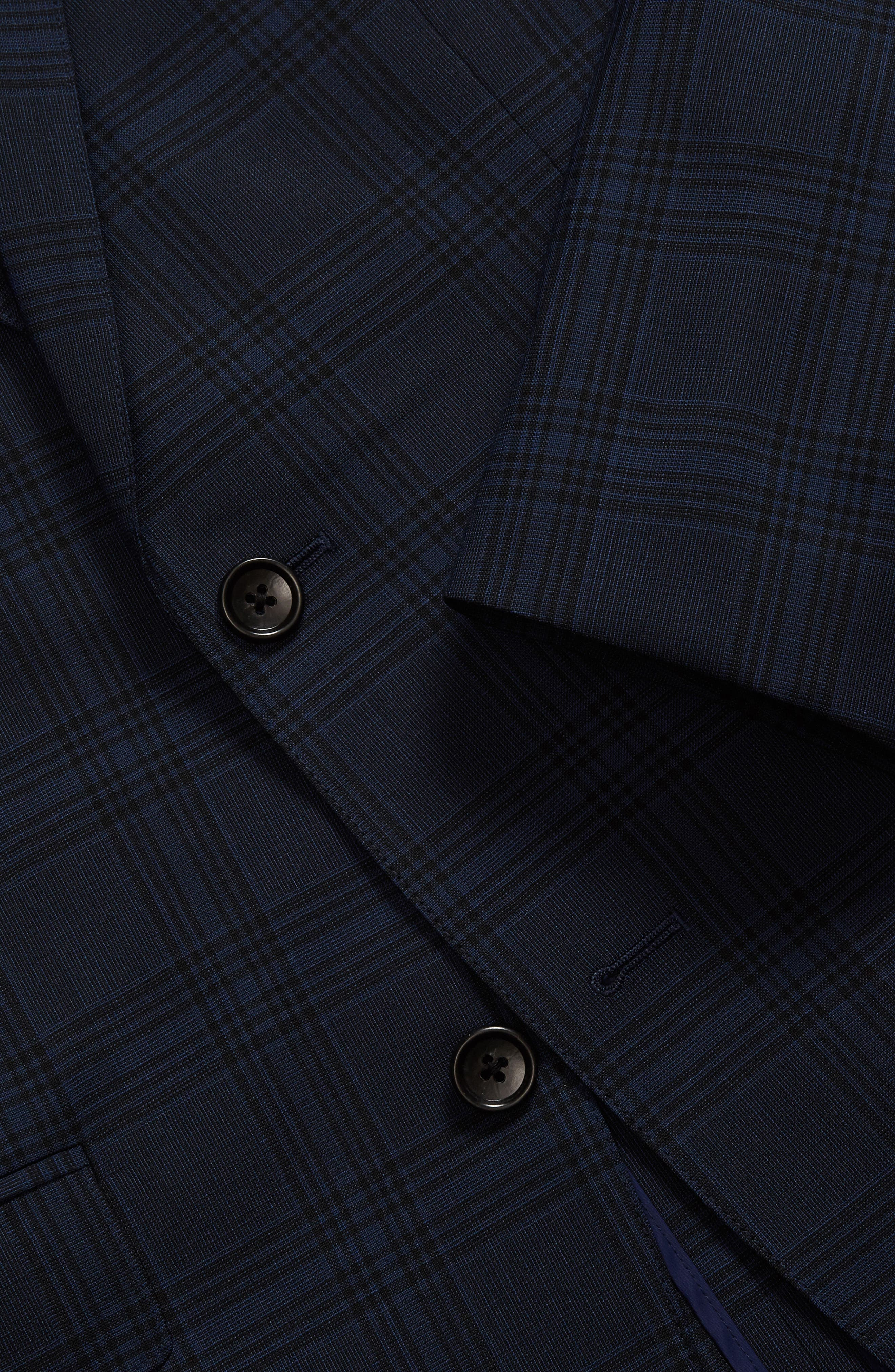 Alternate Image 3  - Bonobos Jetsetter Trim Fit Stretch Plaid Wool Blend Suit Jacket