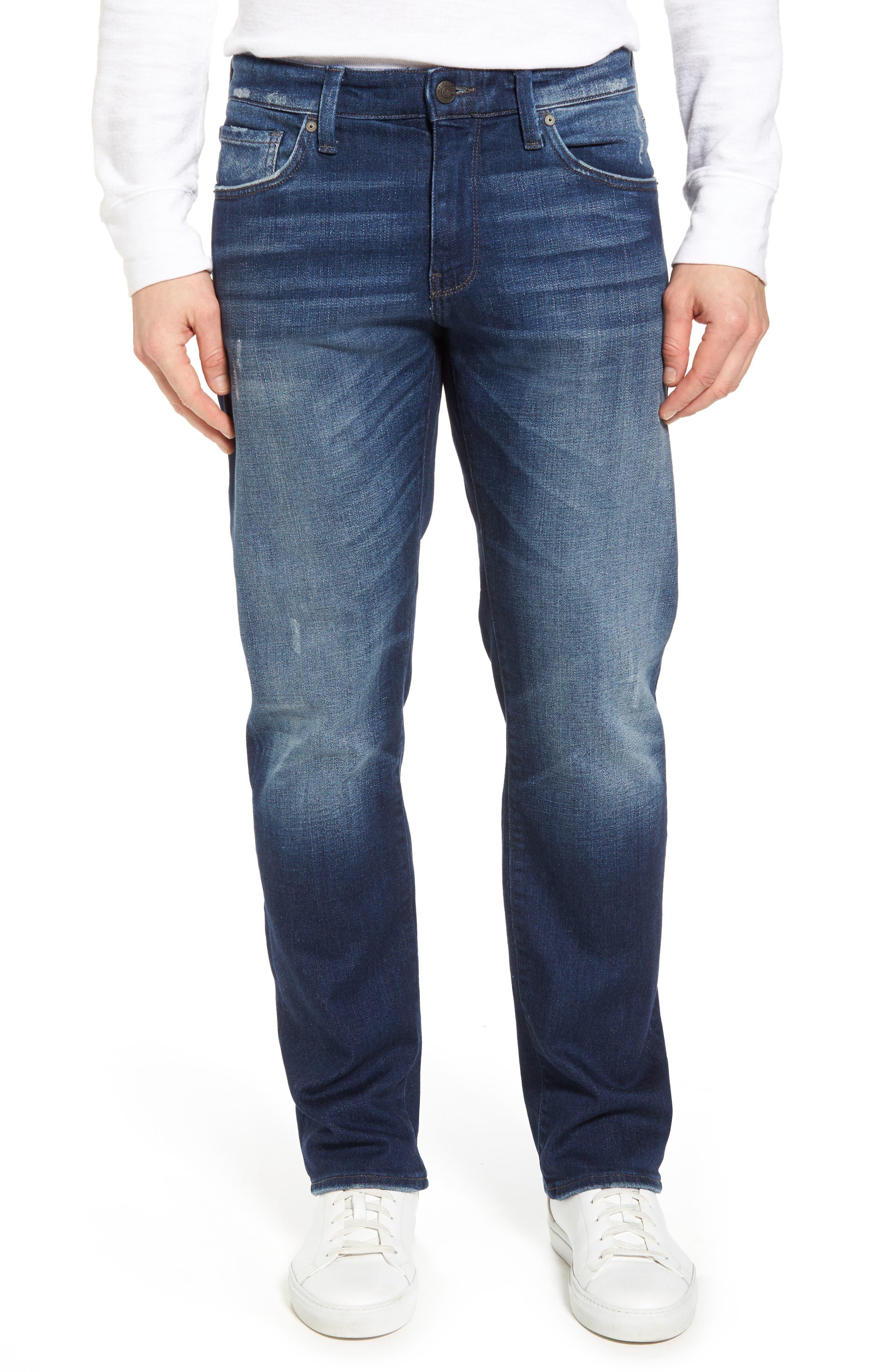 Zach Straight Leg Jeans,                         Main,                         color, Dark Brooklyn