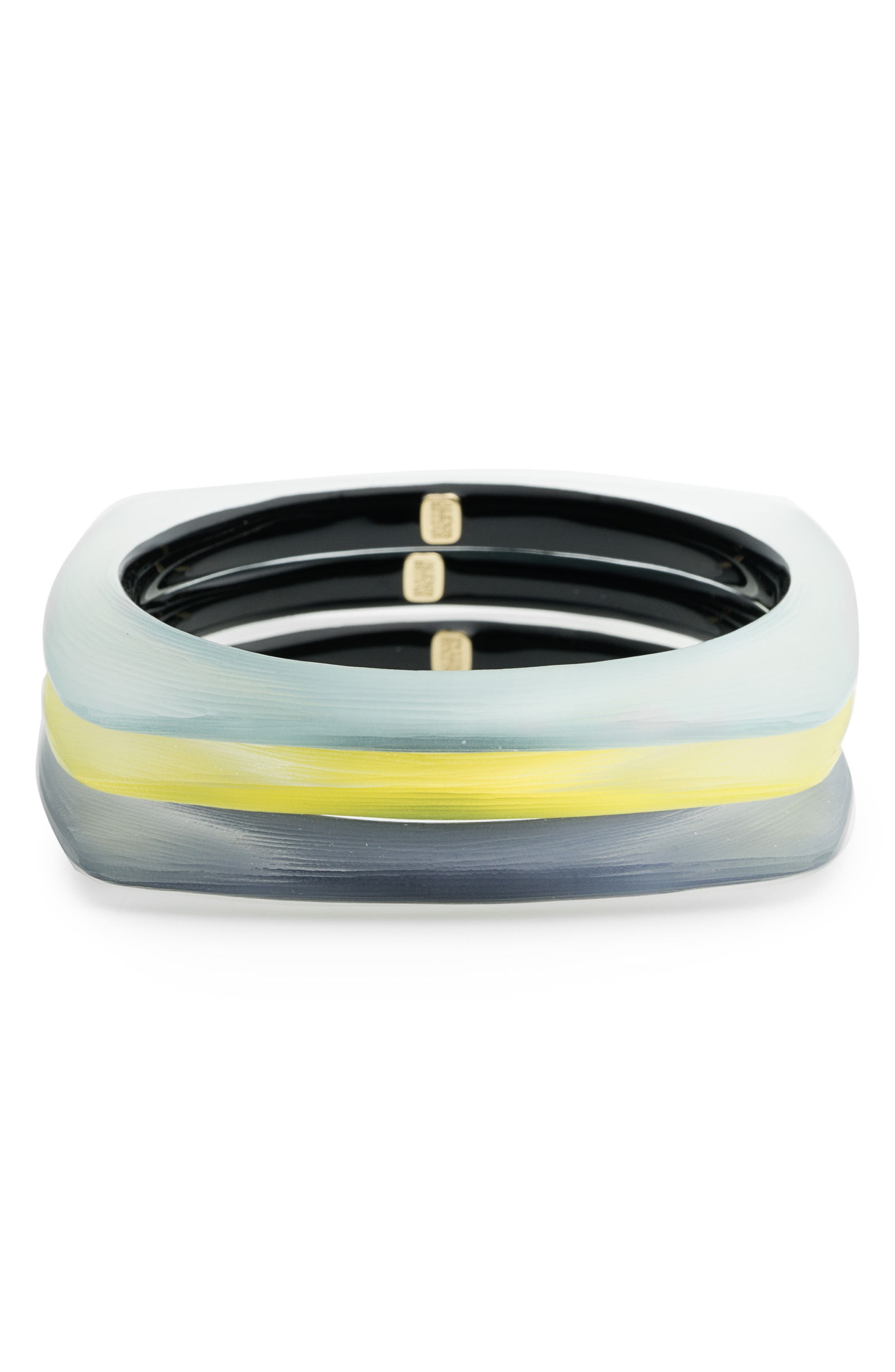 Alexis Bittar Set of 3 Square Lucite® Bangle Bracelets