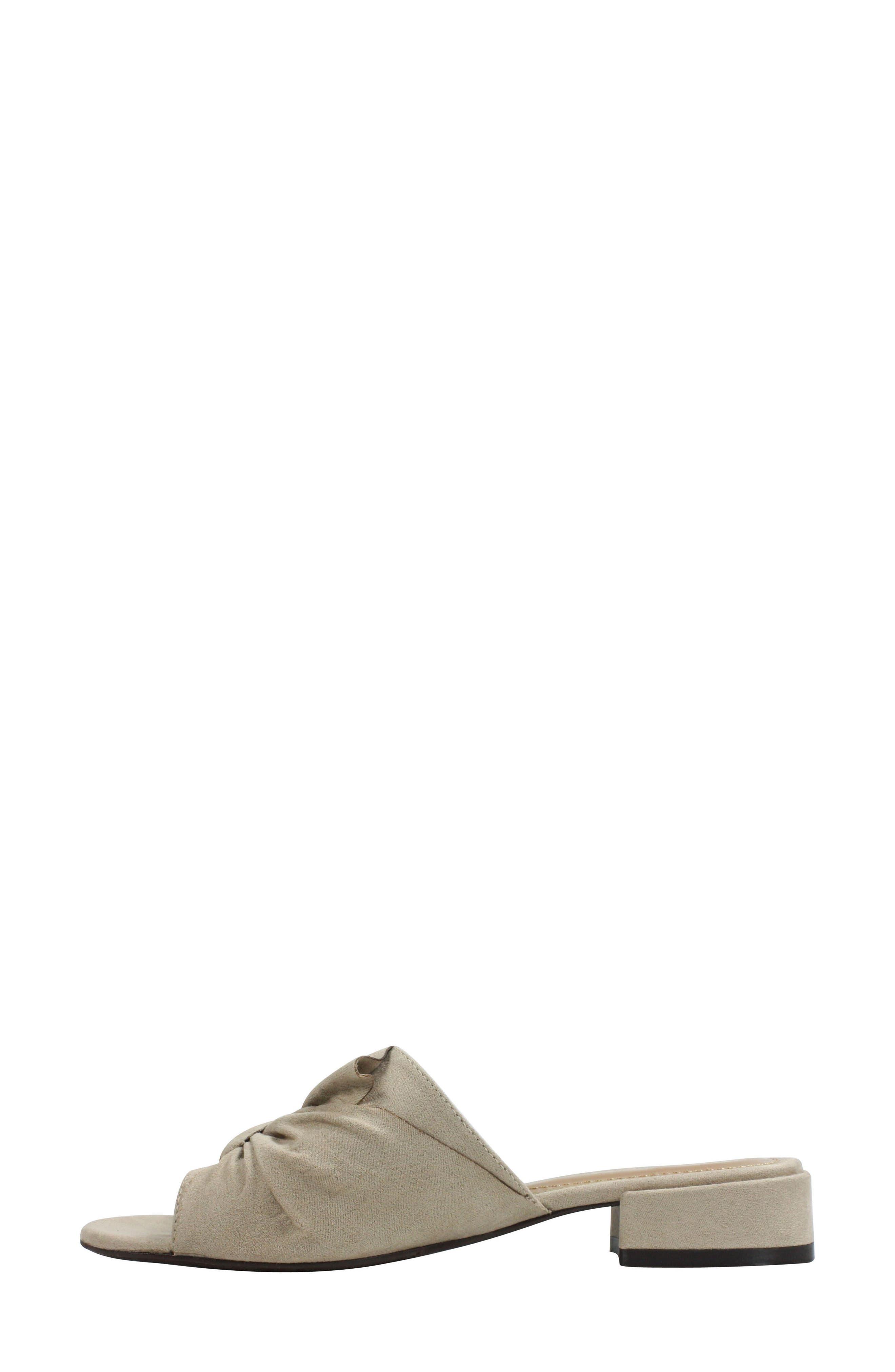 Sattuck Slide Sandal,                             Alternate thumbnail 2, color,                             Dark Beige Fabric
