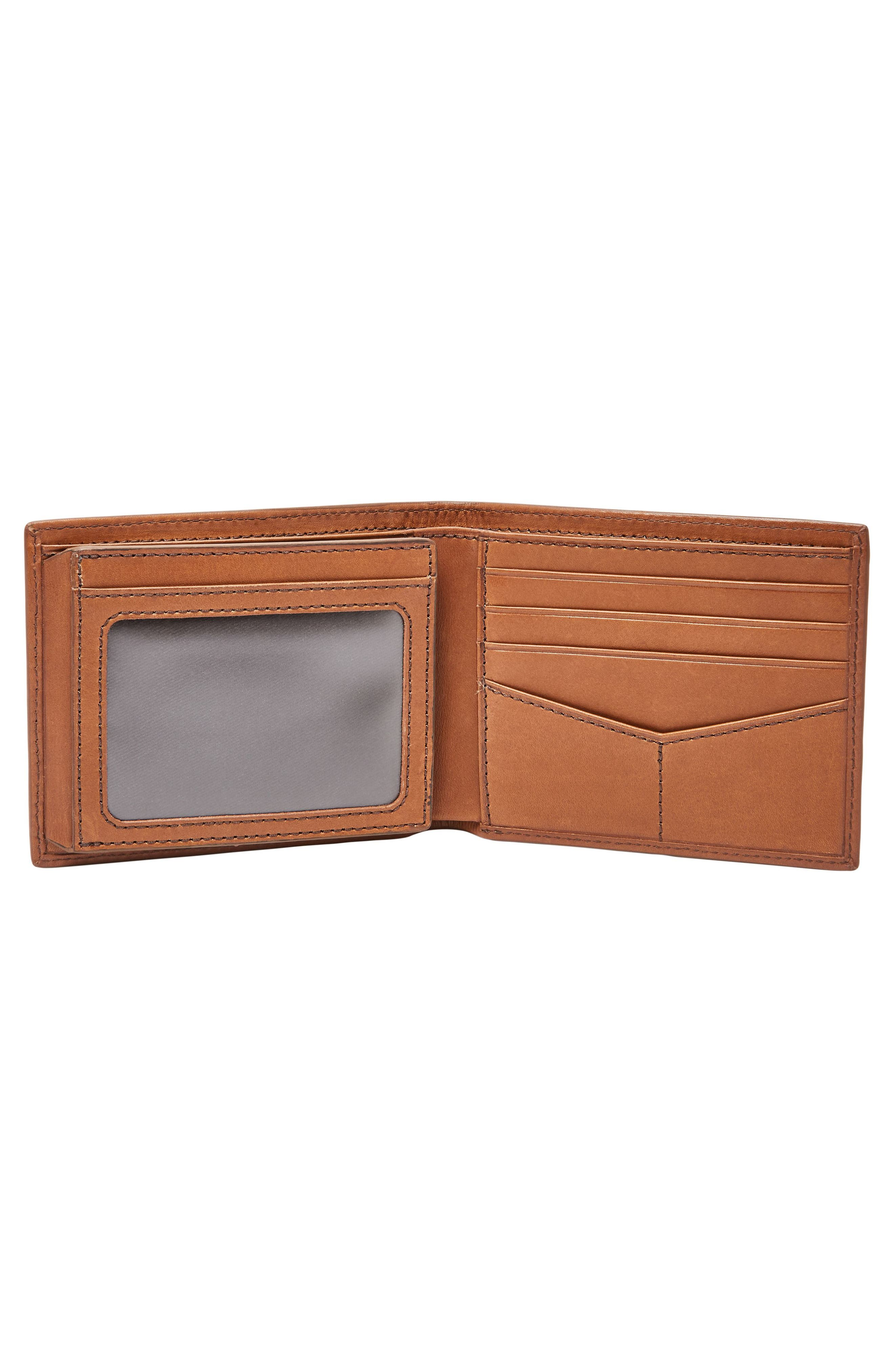 Paul Leather Wallet,                             Alternate thumbnail 3, color,                             Cognac