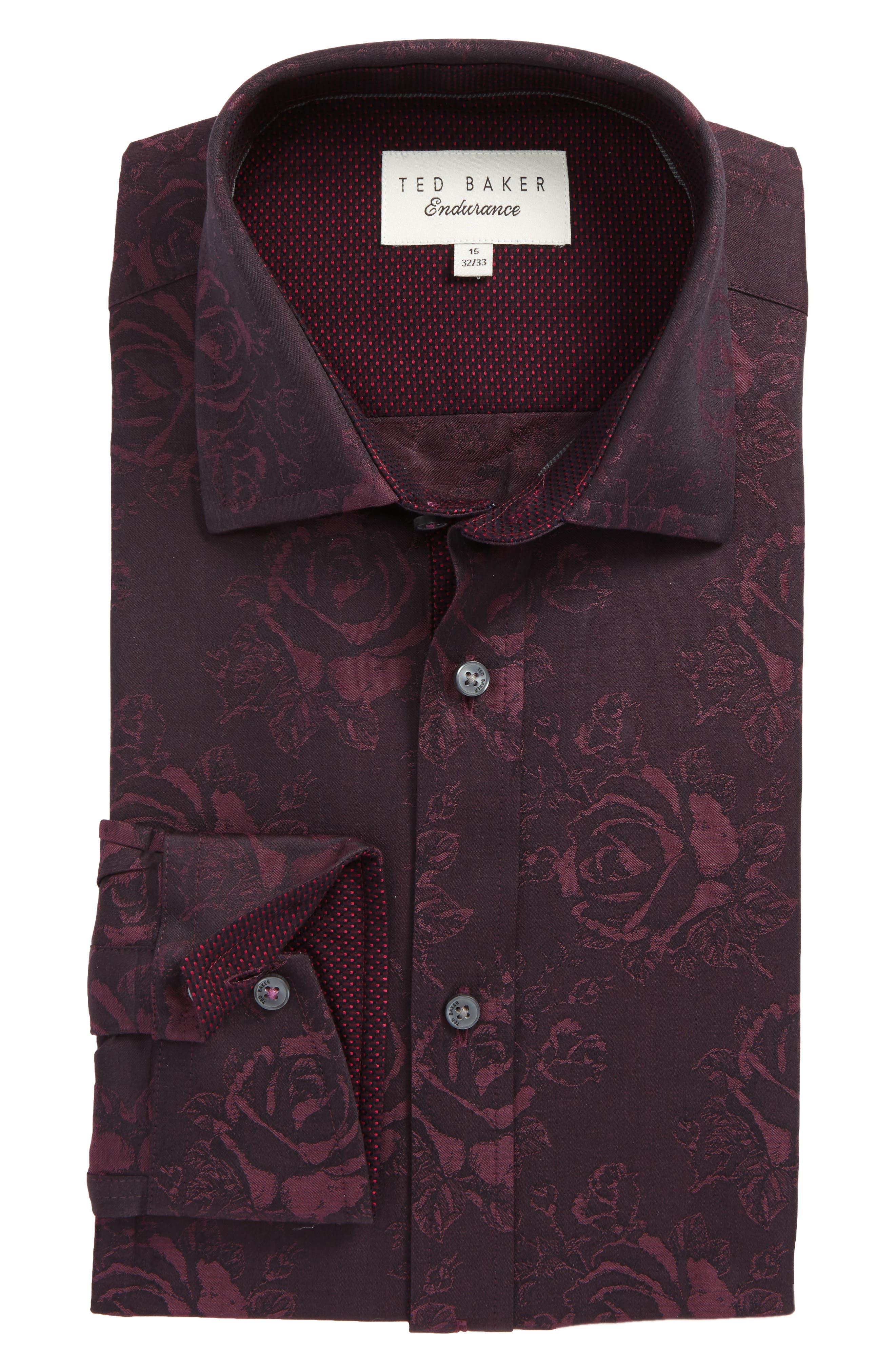 Ted Baker London Trim Fit Floral Dress Shirt