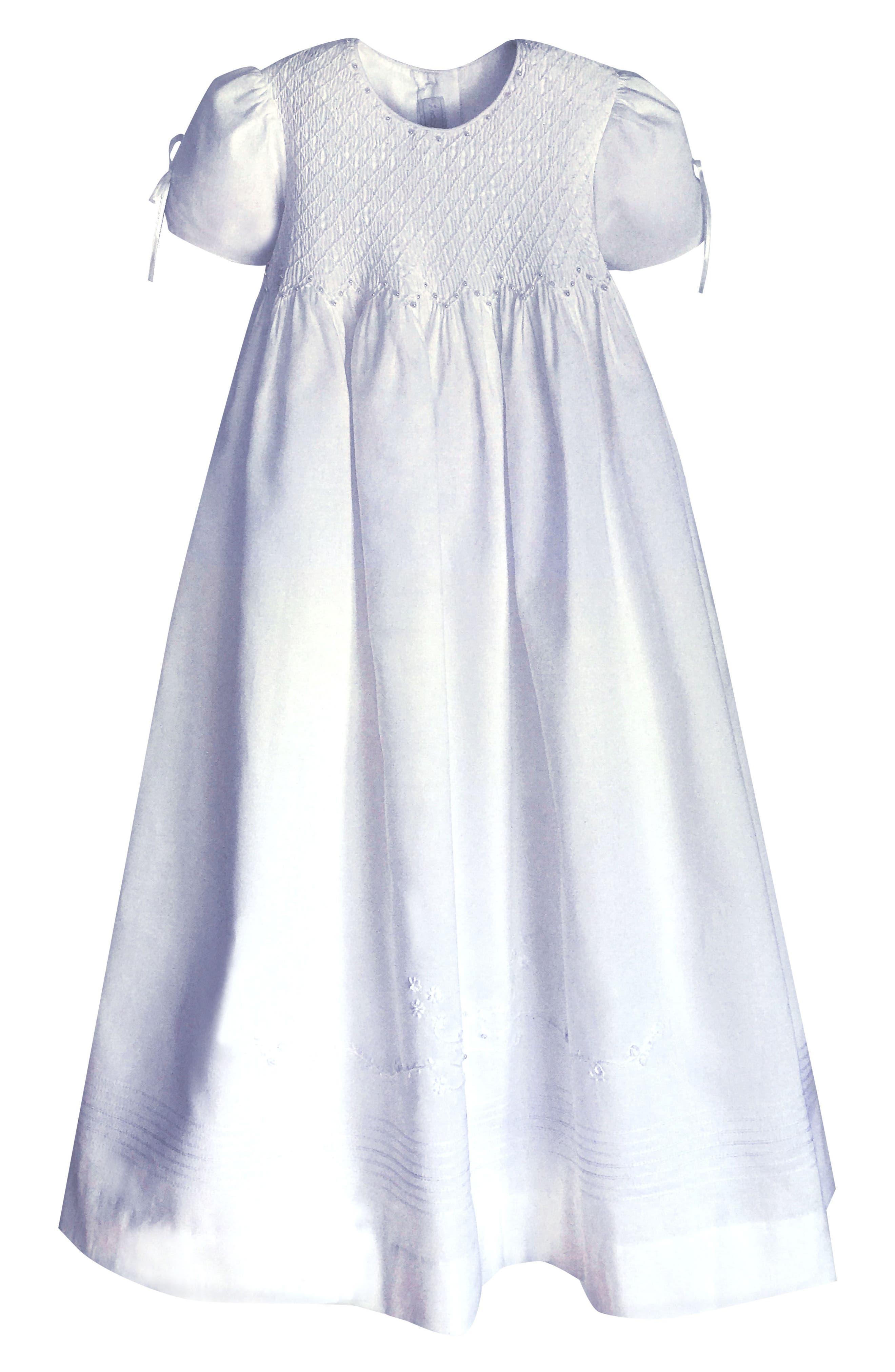 Alternate Image 2  - Isabel Garreton 'Pearls' Christening Gown & Bonnet (Baby)