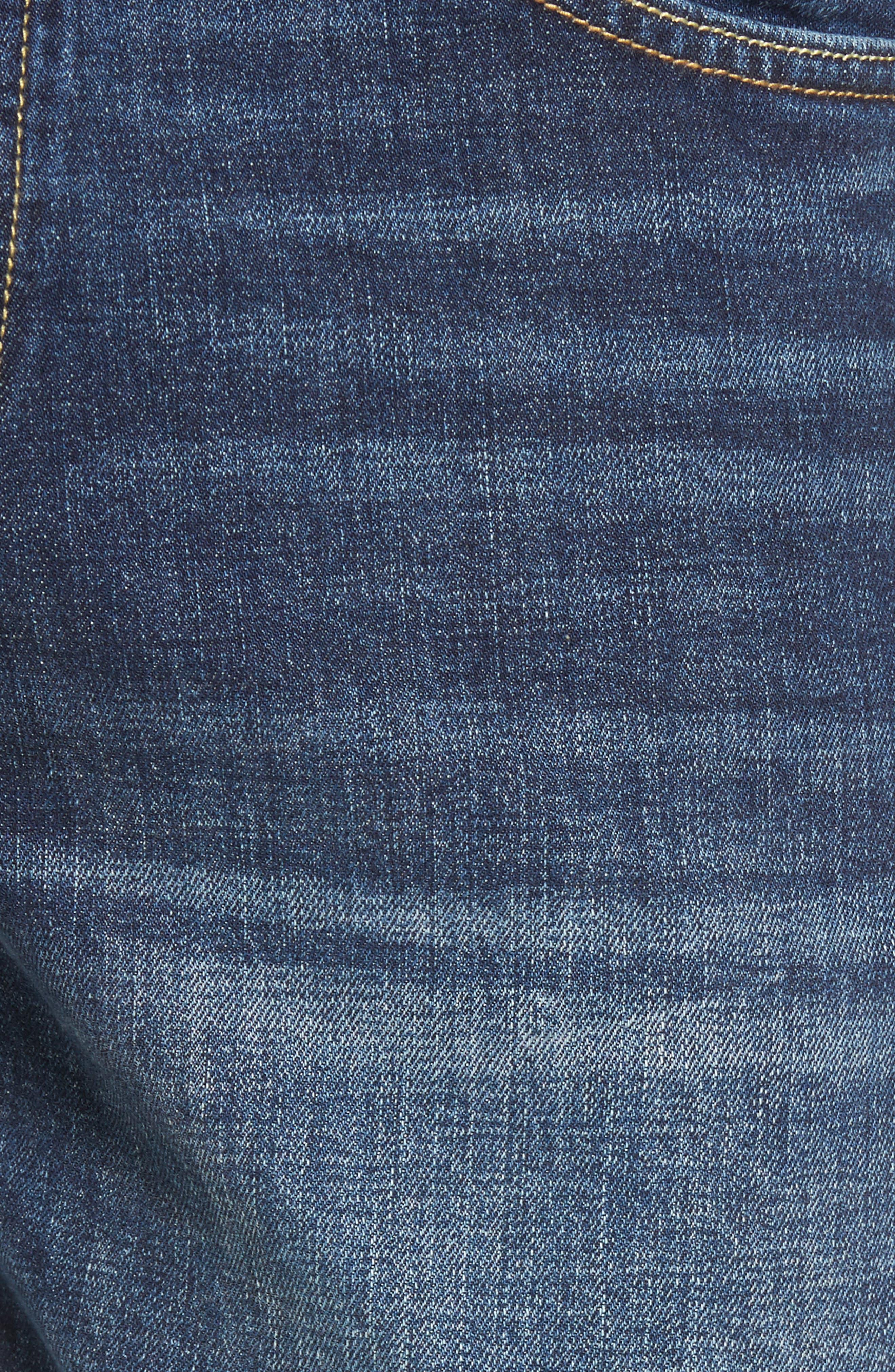 Slim Straight Leg Jeans,                             Alternate thumbnail 5, color,                             Medium Wash