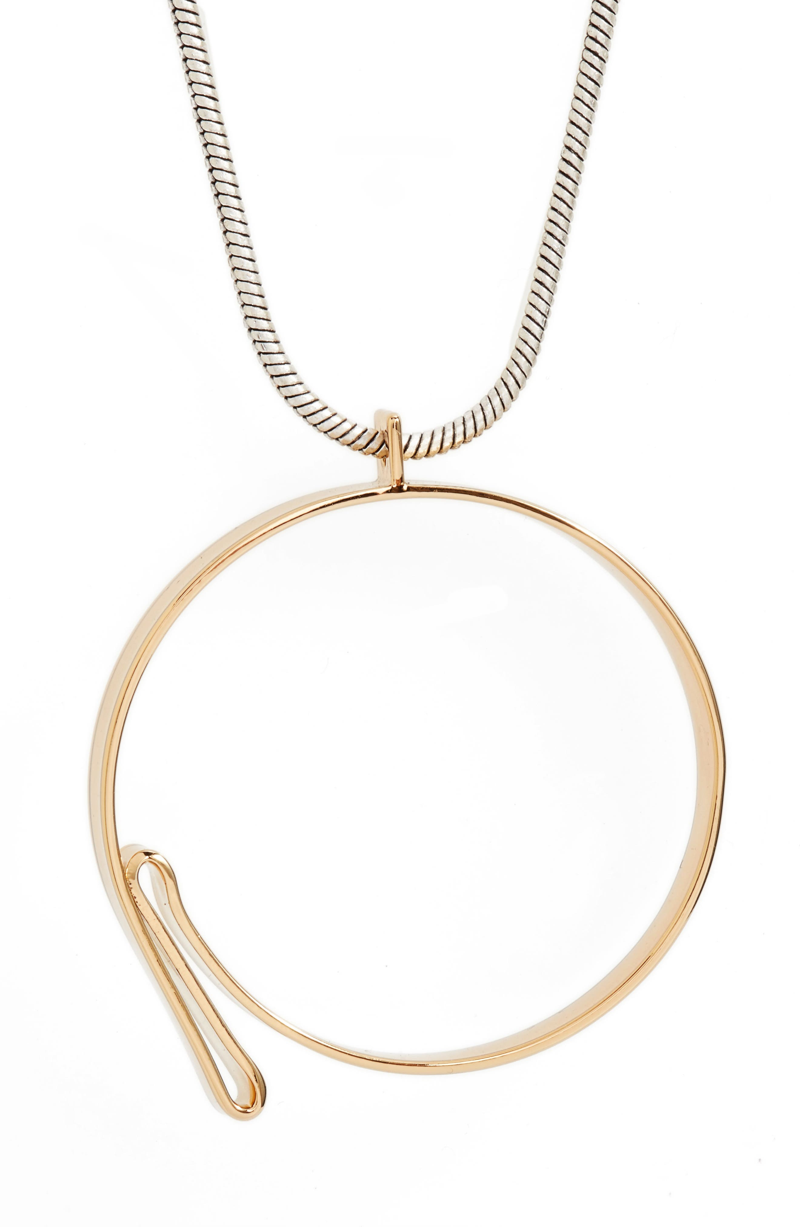 Serra Pendant Necklace,                             Alternate thumbnail 2, color,                             Gold/ Silver