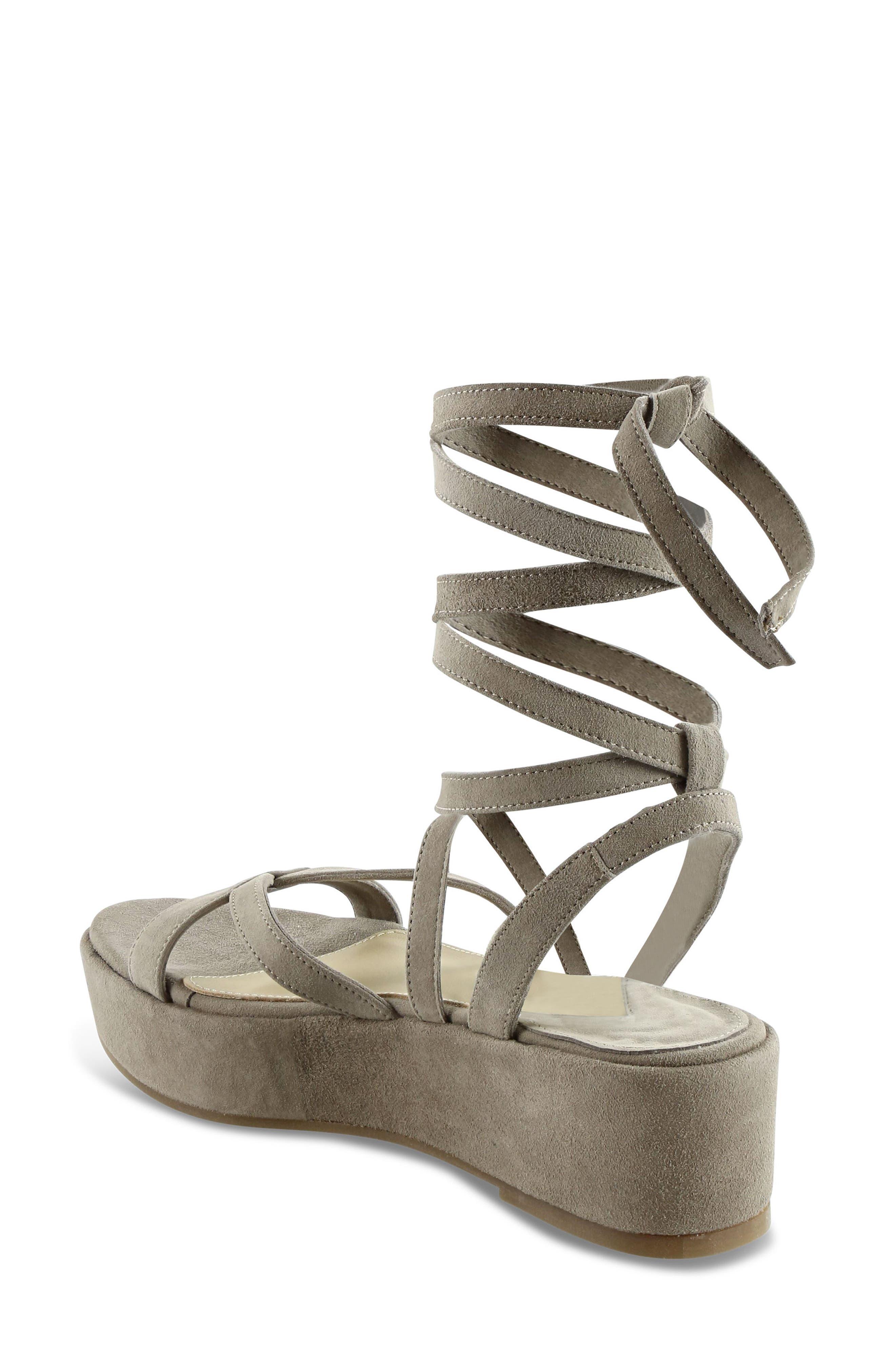 Keri Gladiator Platform Sandal,                             Alternate thumbnail 3, color,                             Camel Suede