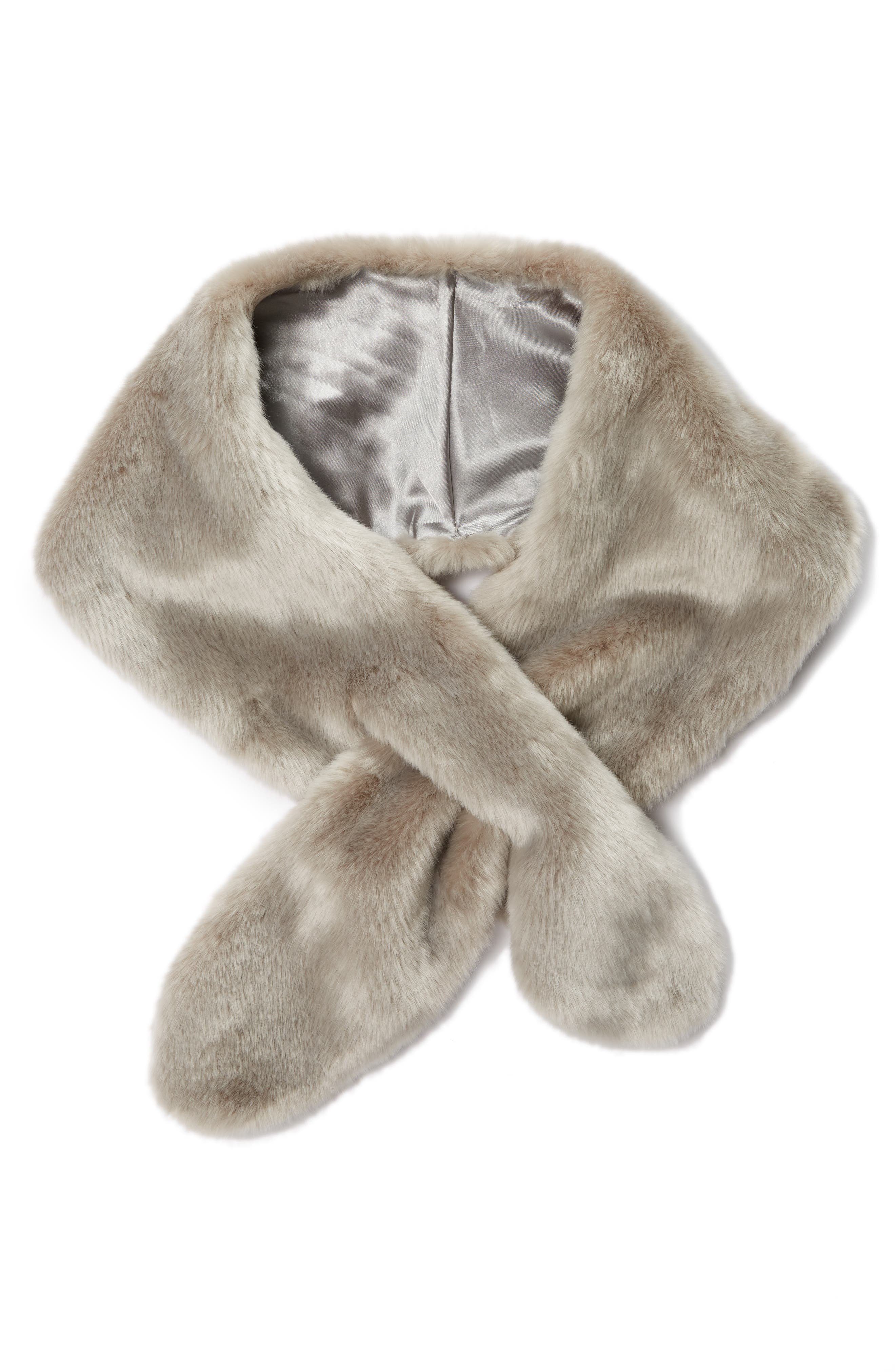 Alternate Image 1 Selected - Badgley Mischka Faux Fur Pull Through Scarf