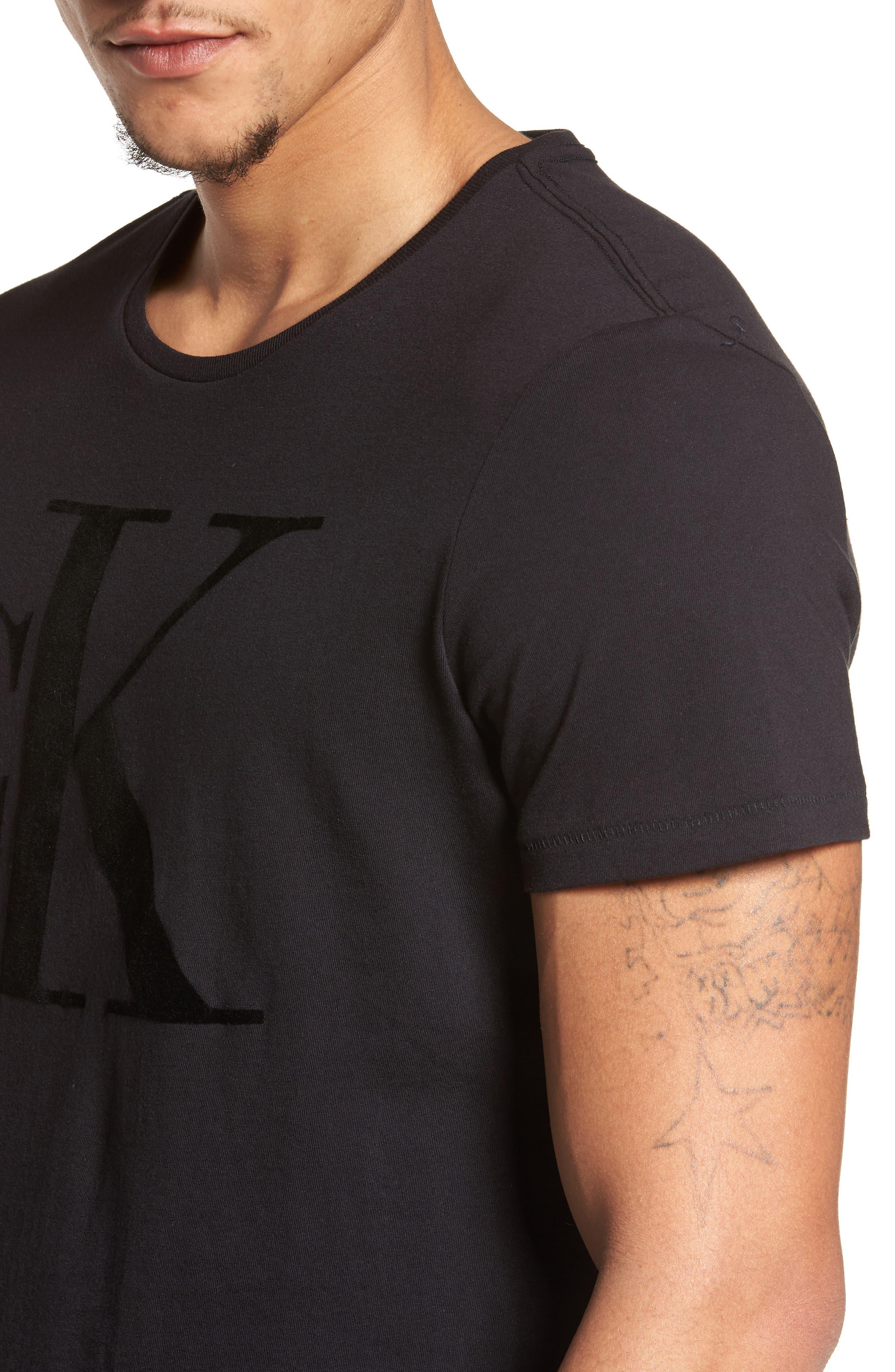 Alternate Image 4  - Calvin Klein Jeans Flocked Logo T-Shirt