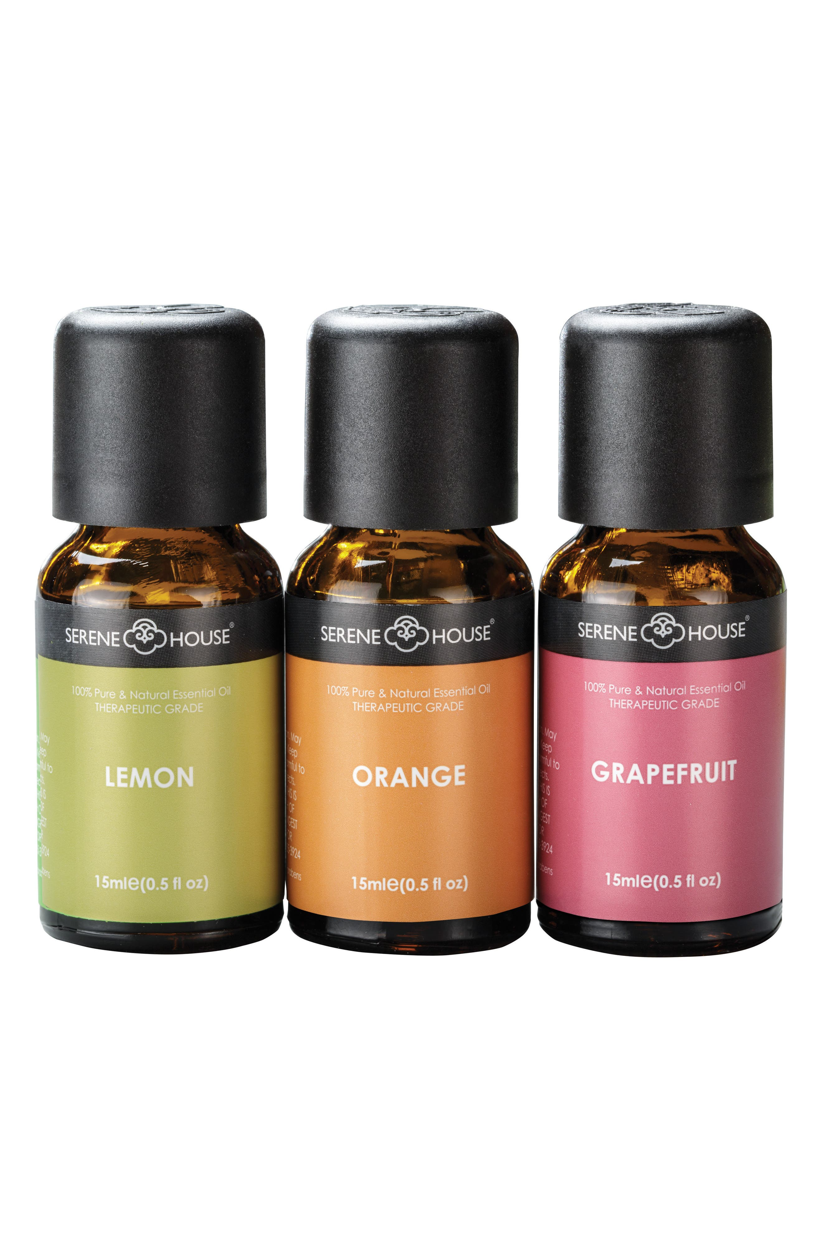 Pure & Natural 3-Pack Essential Oils,                         Main,                         color, Citrus