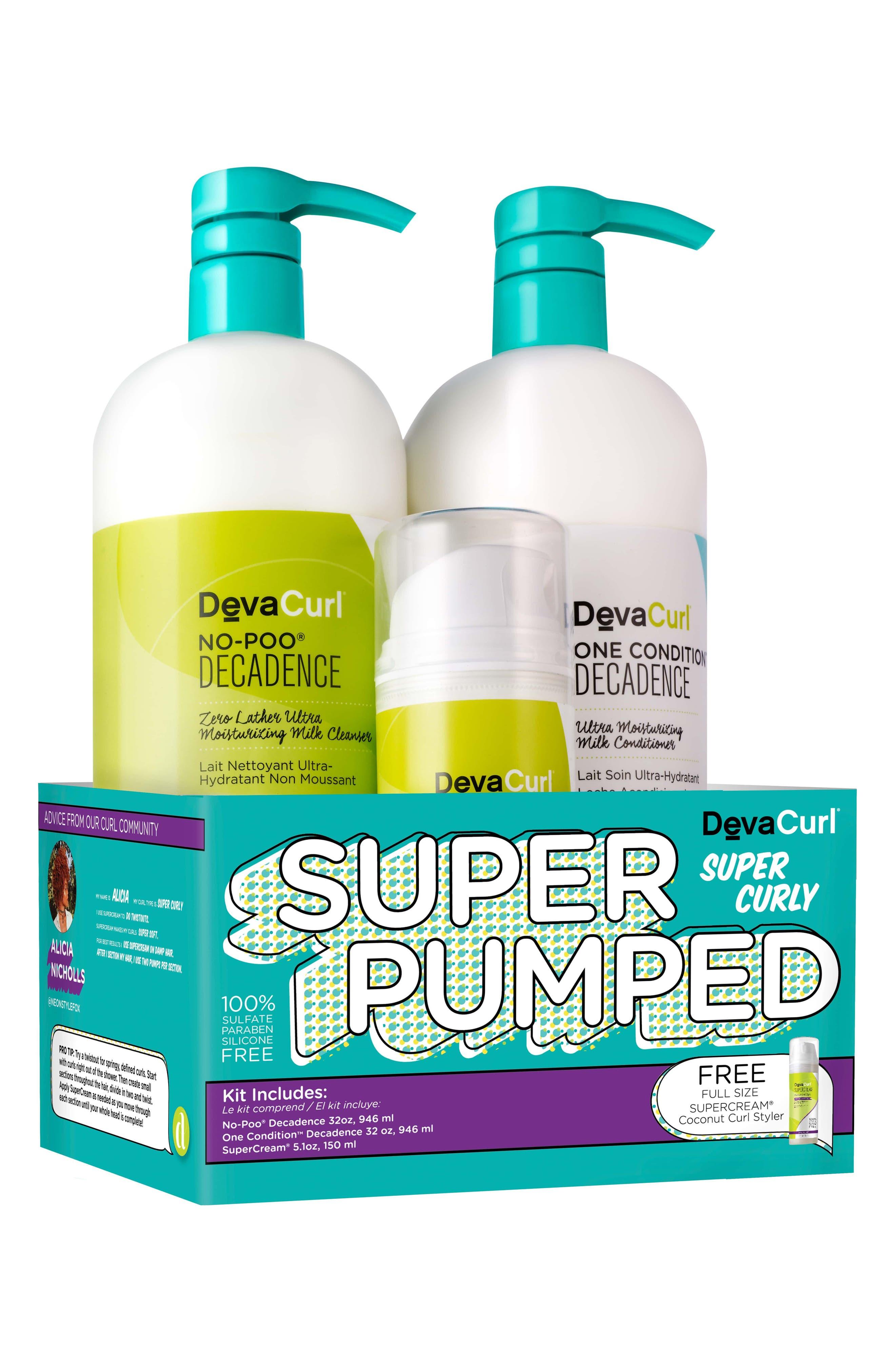 Super Pumped Super Curly Hair Care Kit,                         Main,                         color, No Color