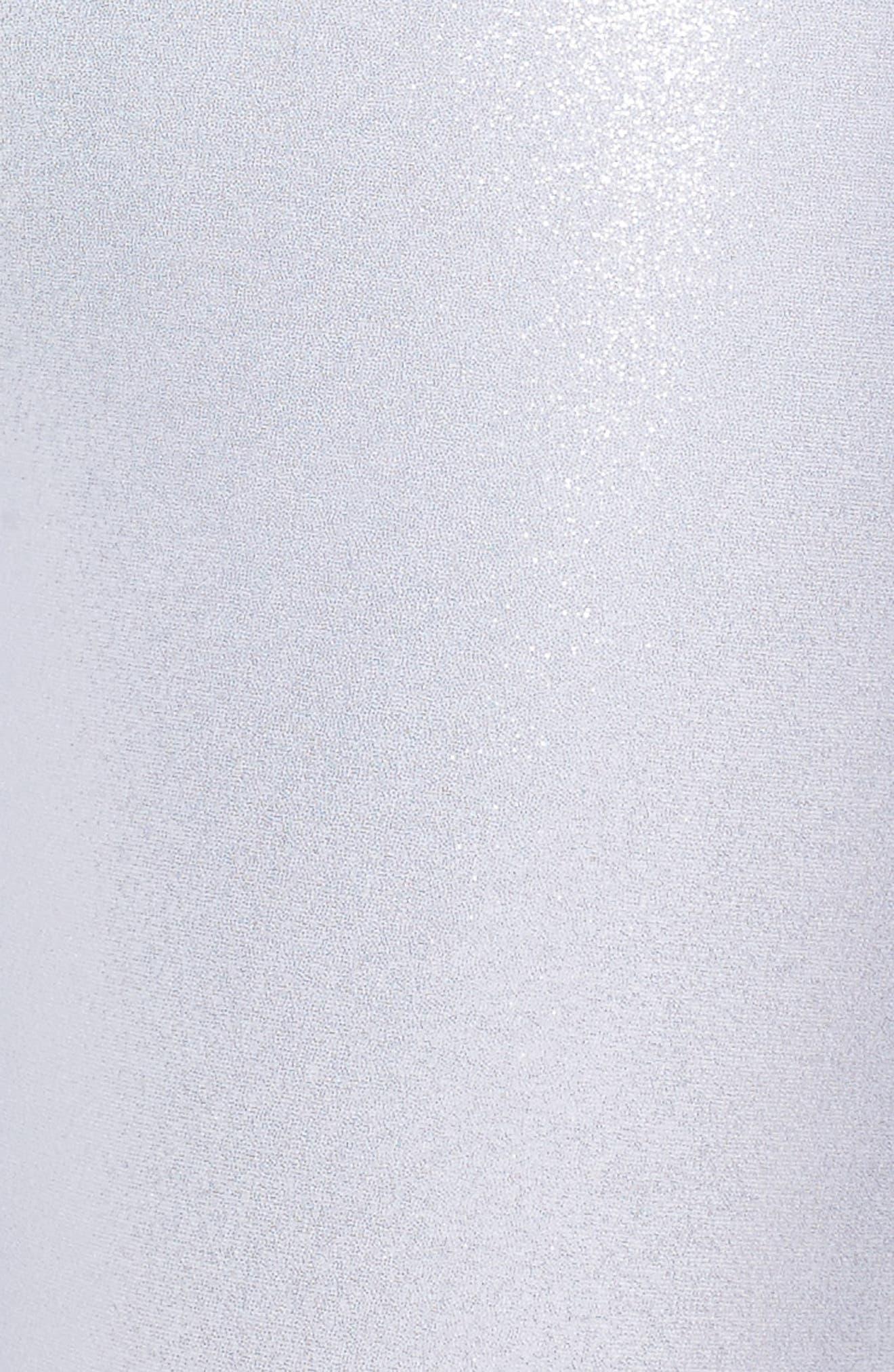Hatha Glitter High Waist Crop Leggings,                             Alternate thumbnail 6, color,                             Silver