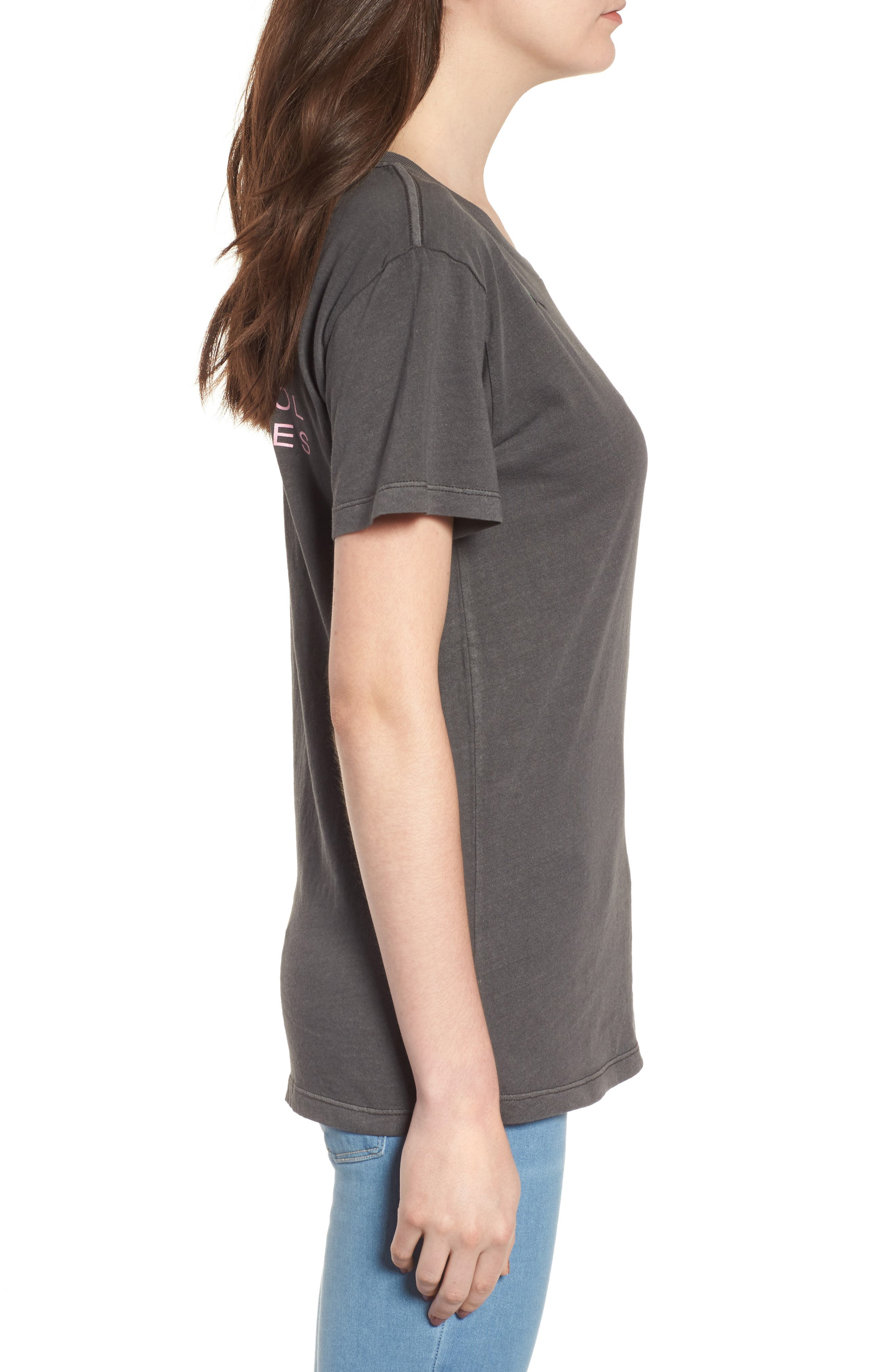Boyfriend Graphic Tee,                             Alternate thumbnail 3, color,                             Rose Washed Black