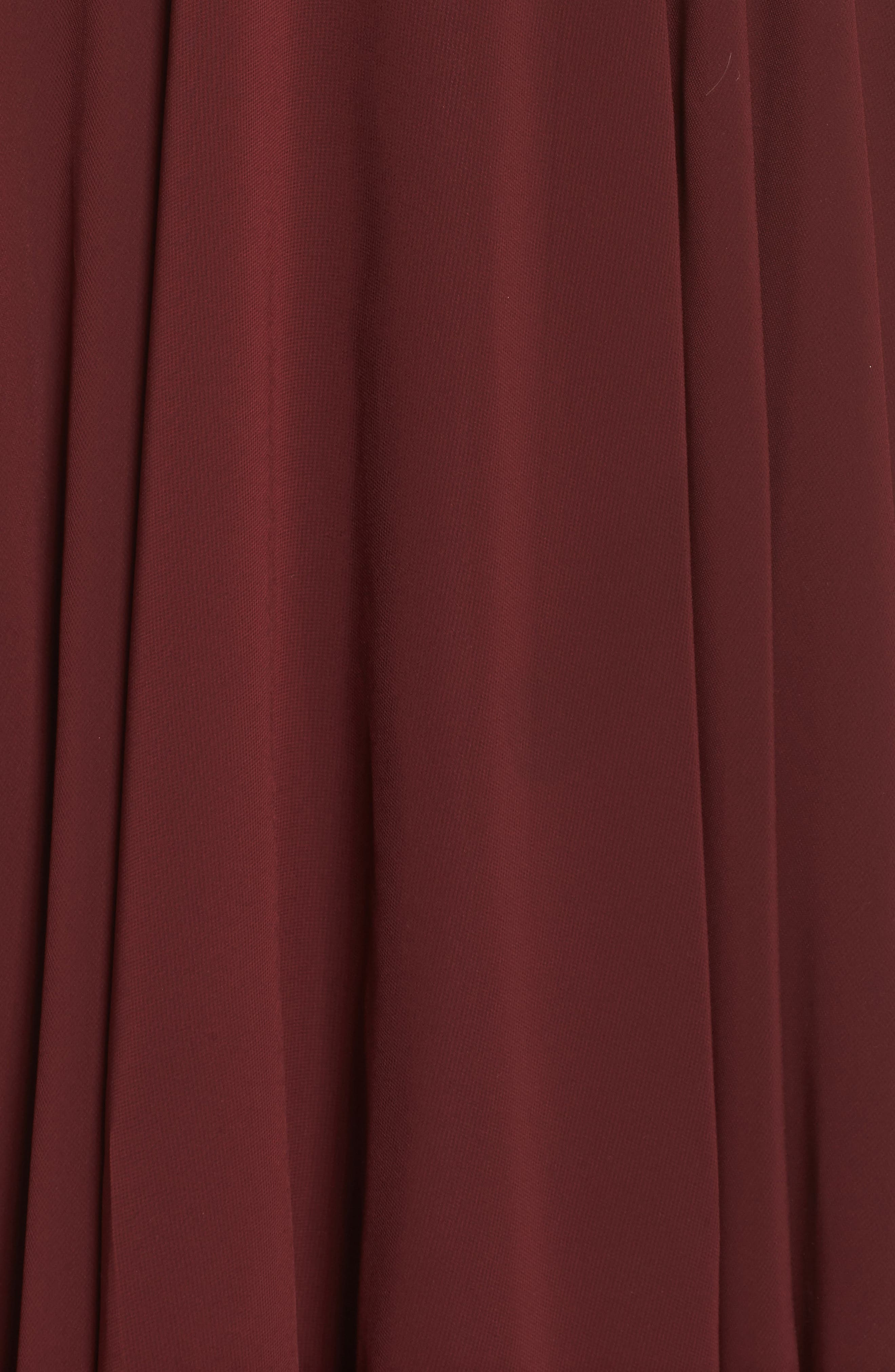 Kelli Cold Shoulder Chiffon Dress,                             Alternate thumbnail 5, color,                             Hibiscus