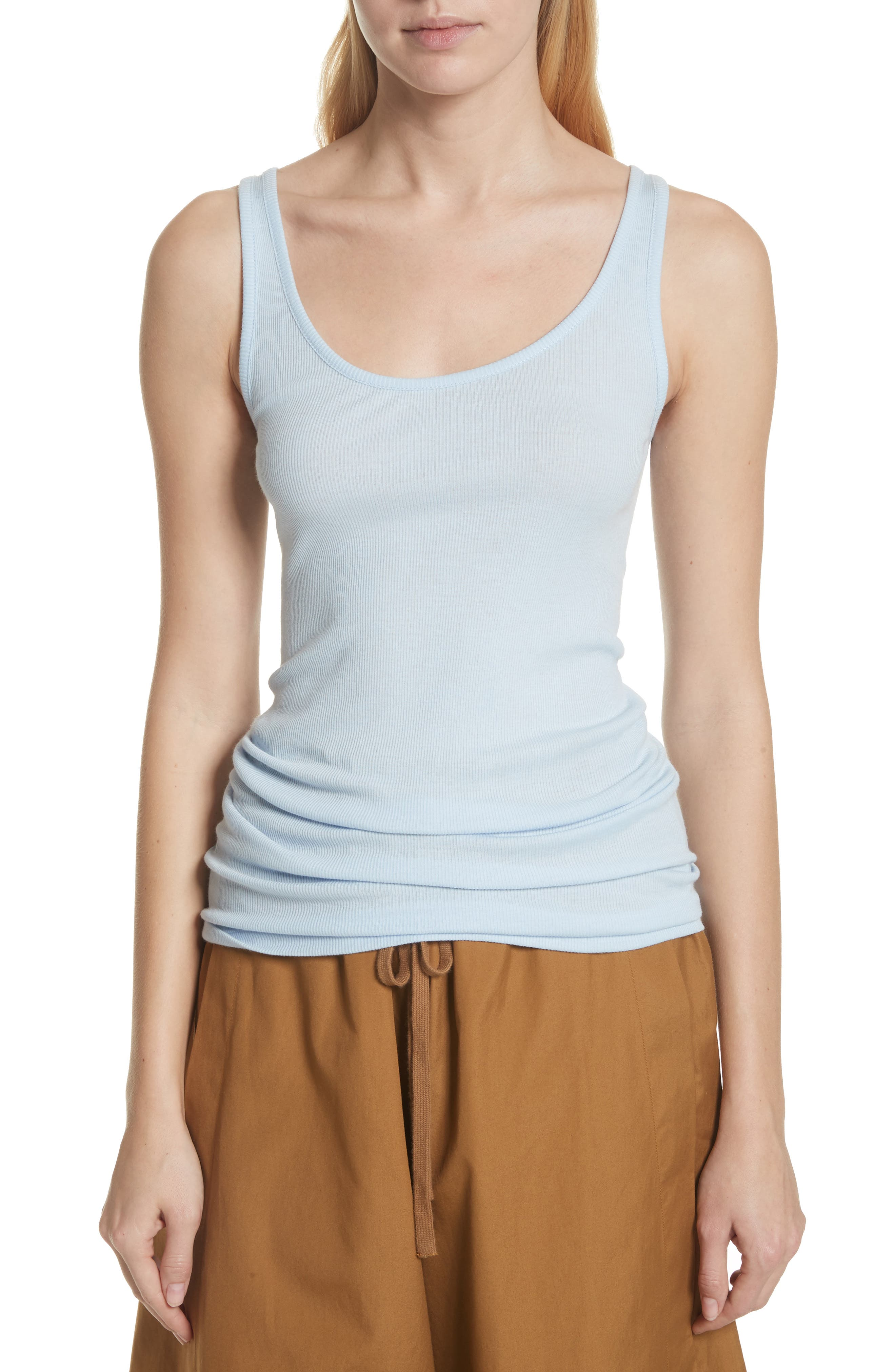 Scoop Neck Tank,                         Main,                         color, Powder Blue