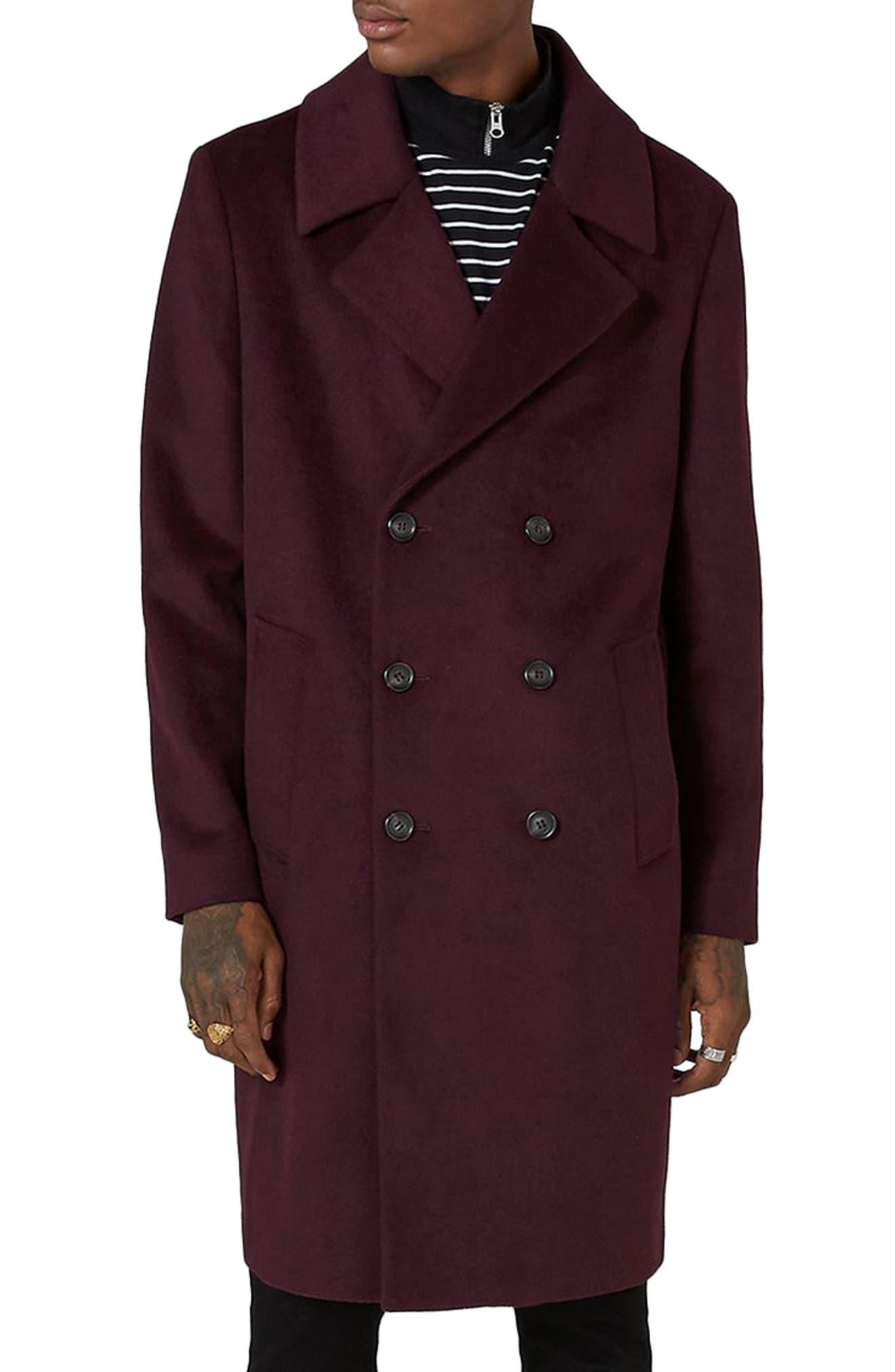 Topman Oversize Double Breated Coat