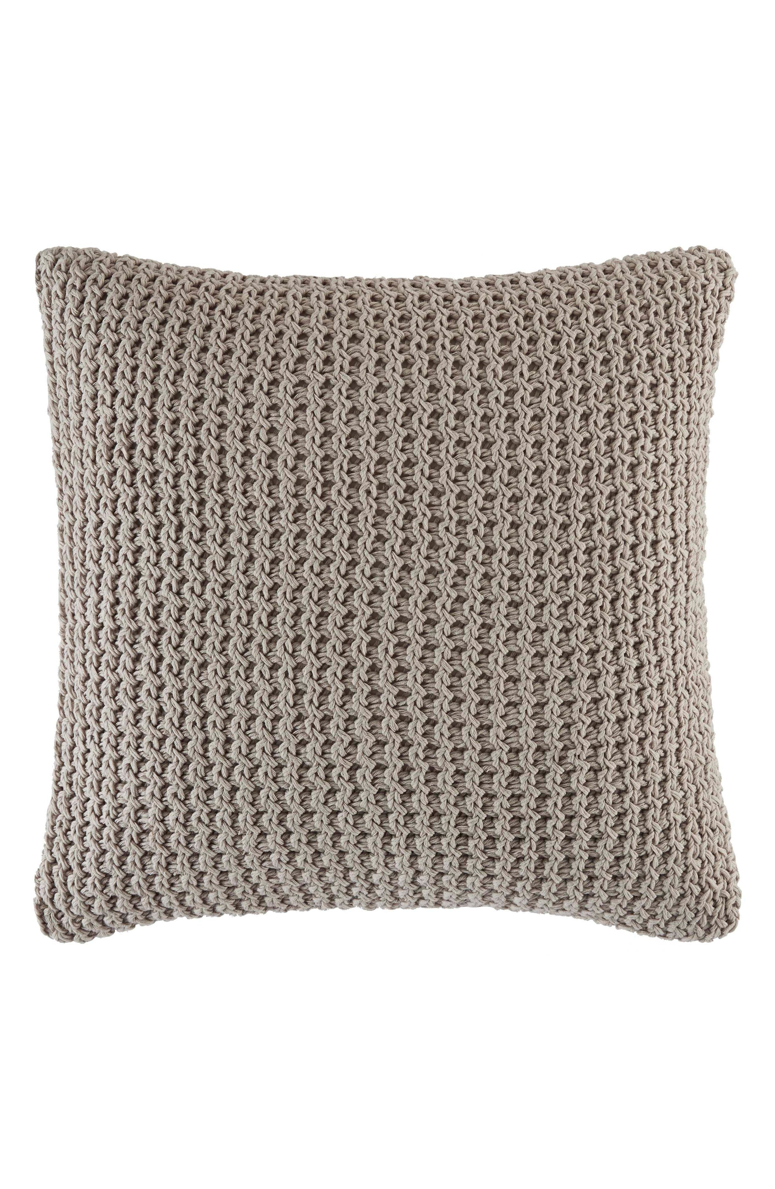 Knotted Pillow,                             Main thumbnail 1, color,                             Pastel Grey