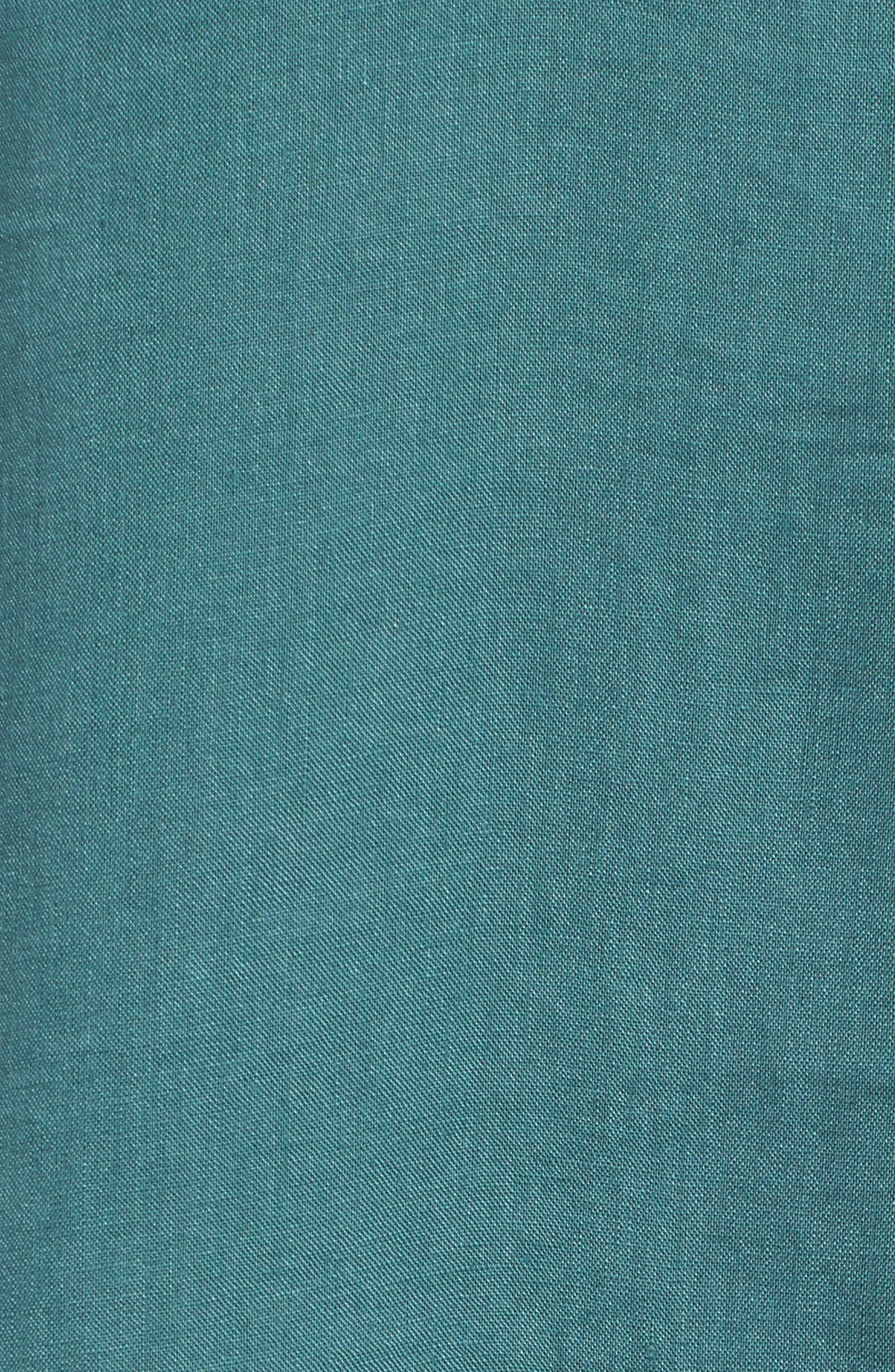 Organic Linen Round Neck Shift Dress,                             Alternate thumbnail 5, color,                             Dragonfly