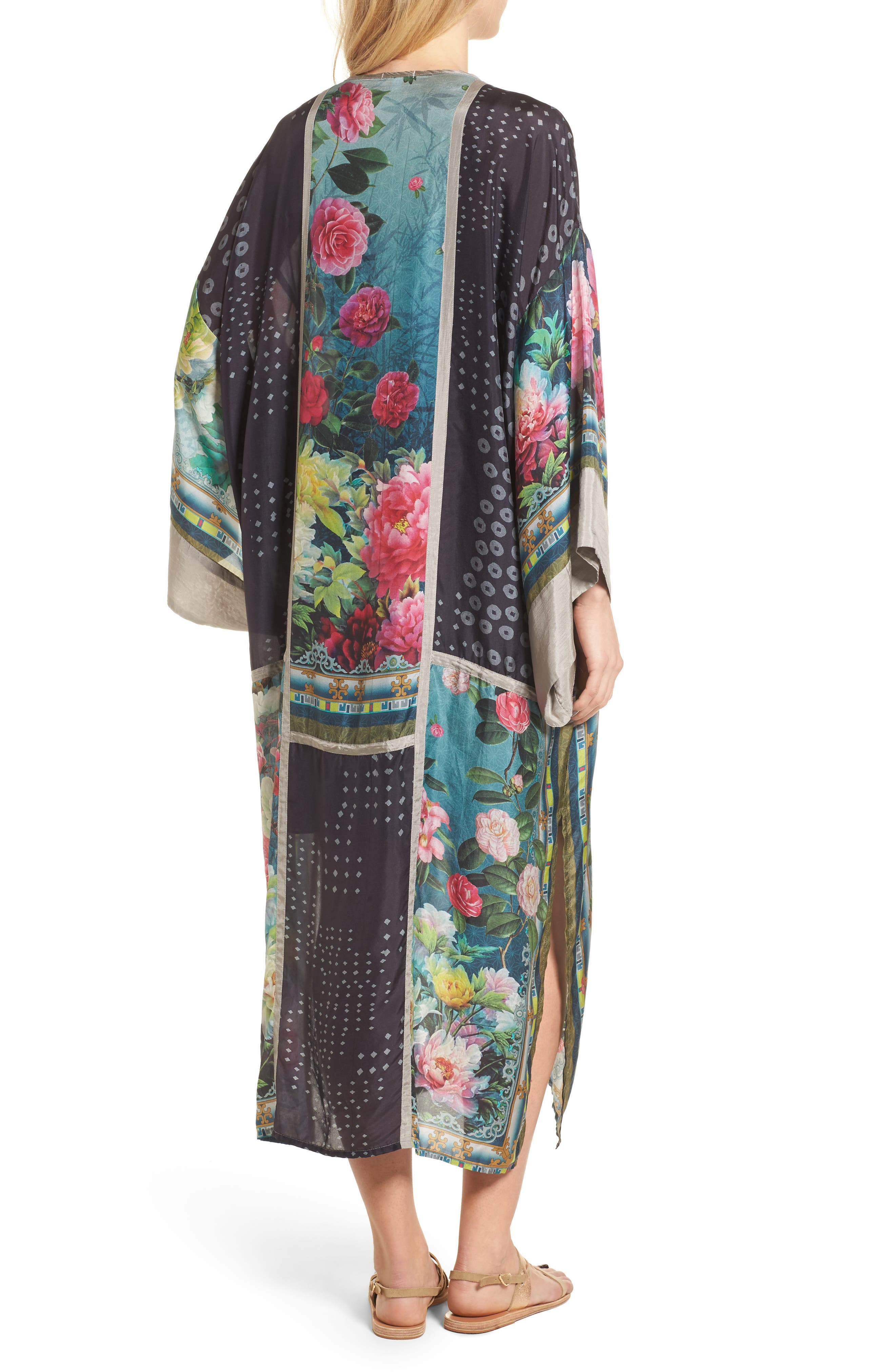 Alternate Image 2  - Johnny Was Camuba Heaven Silk Kimono Dress