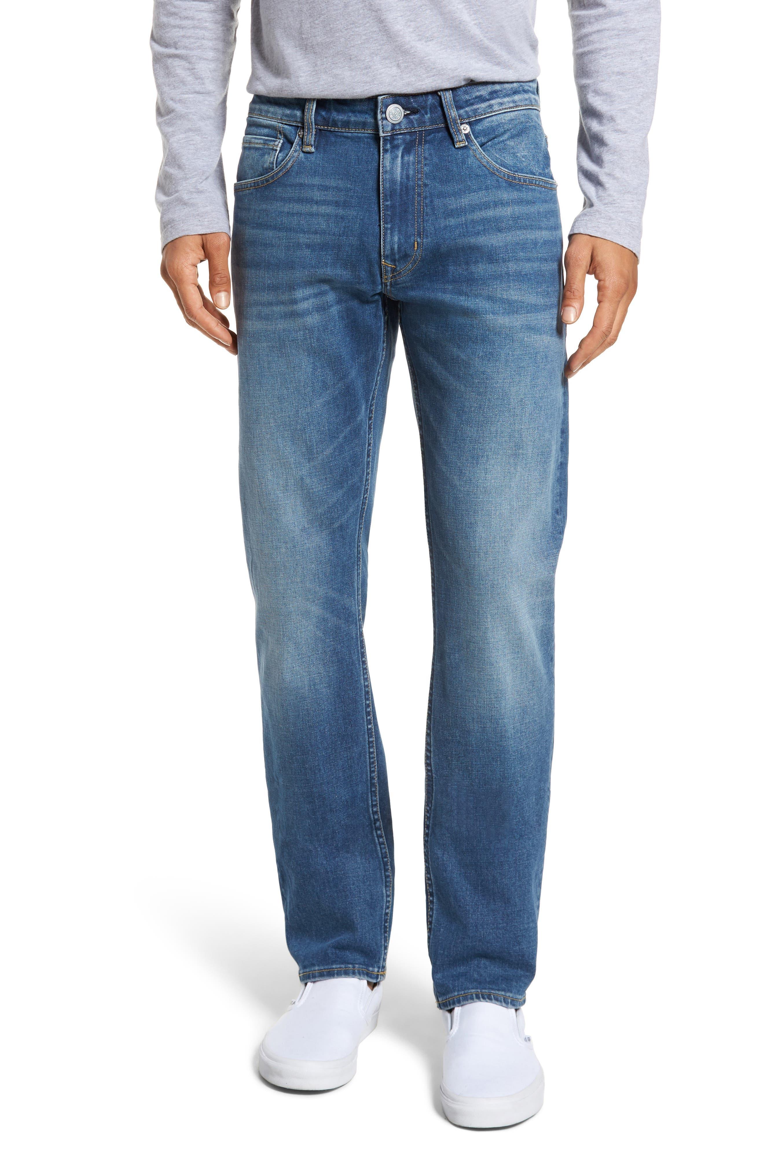 Slim Straight Leg Jeans,                         Main,                         color, Light Wash