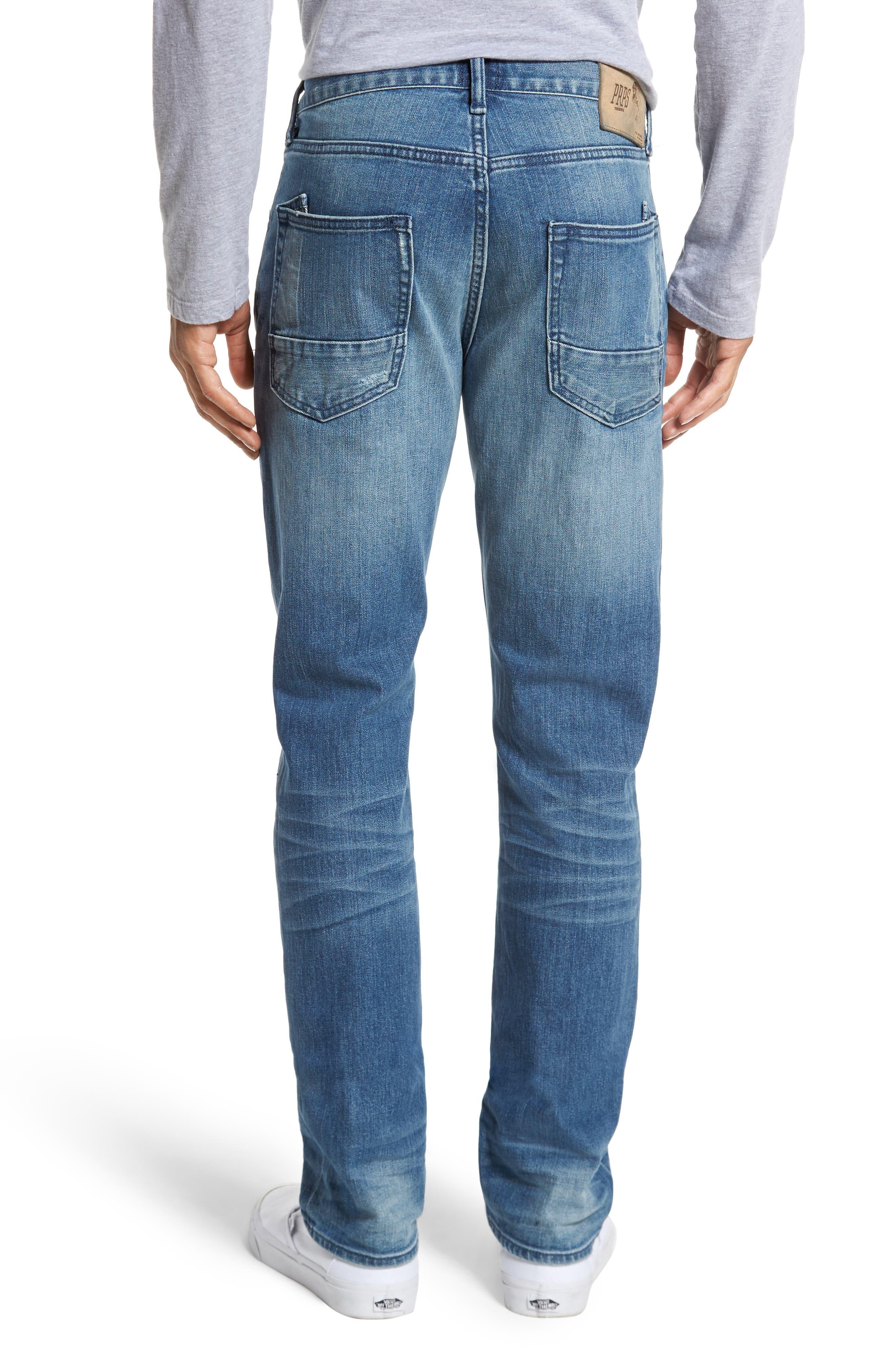 Denim Slim Straight Leg Jeans,                             Alternate thumbnail 2, color,                             Light Blue