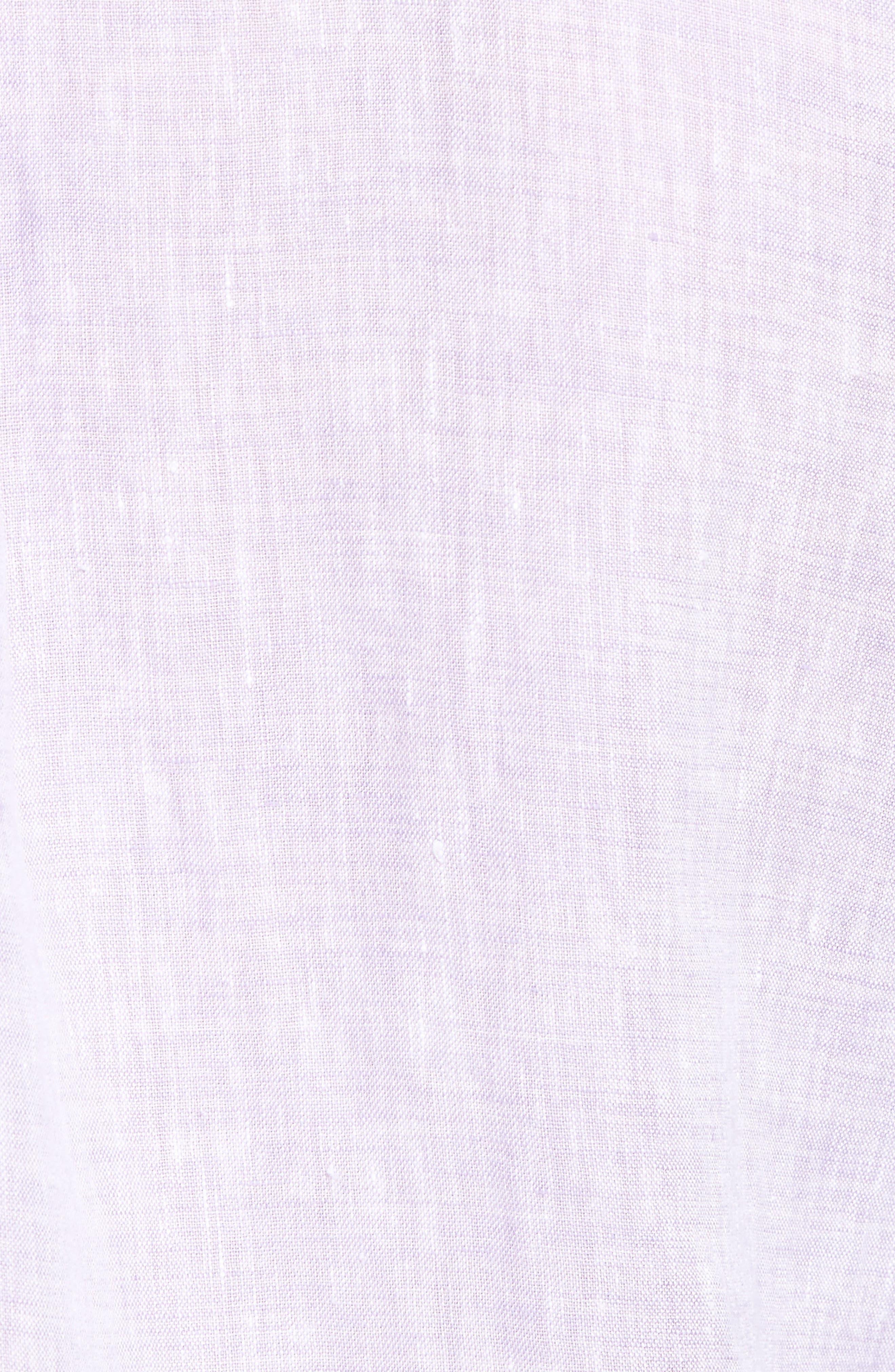 Alternate Image 5  - Peter Millar Classic Fit Crown Cool Linen Sport Shirt
