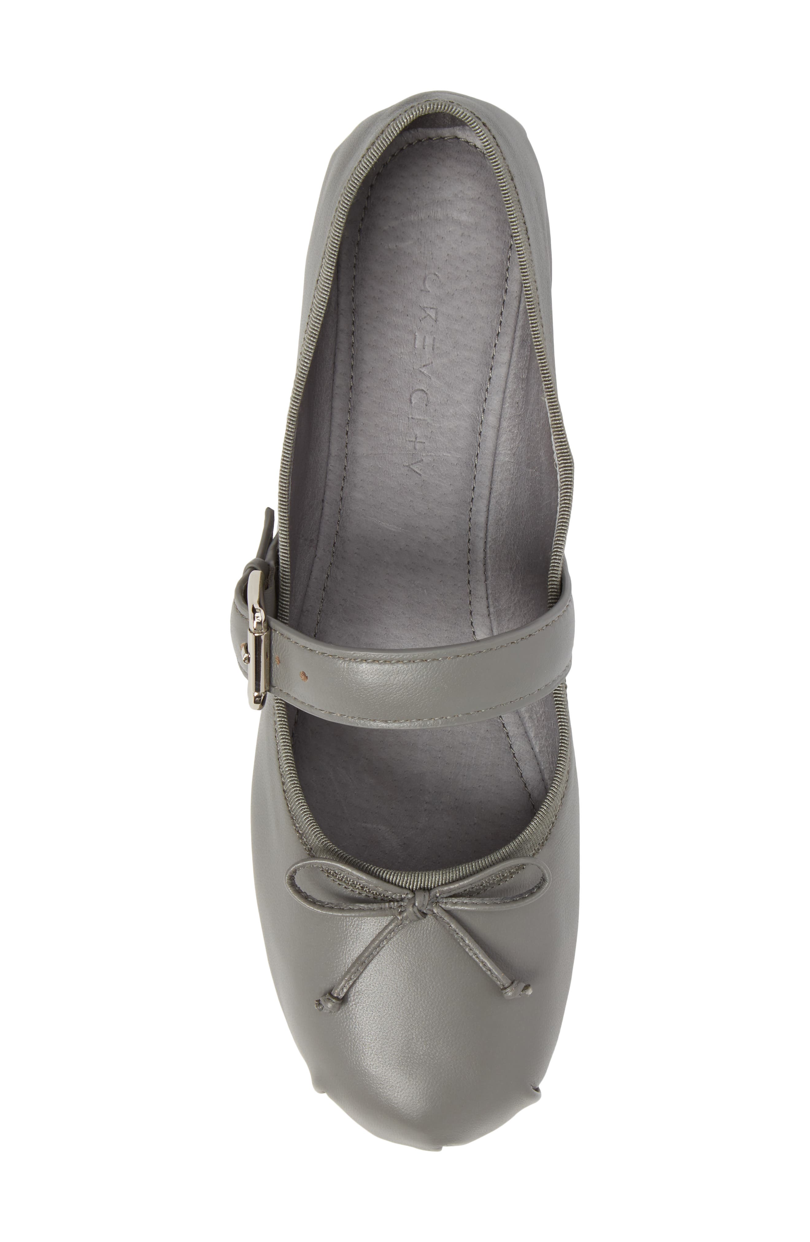 Molly Mary Jane Flat,                             Alternate thumbnail 5, color,                             Grey Leather