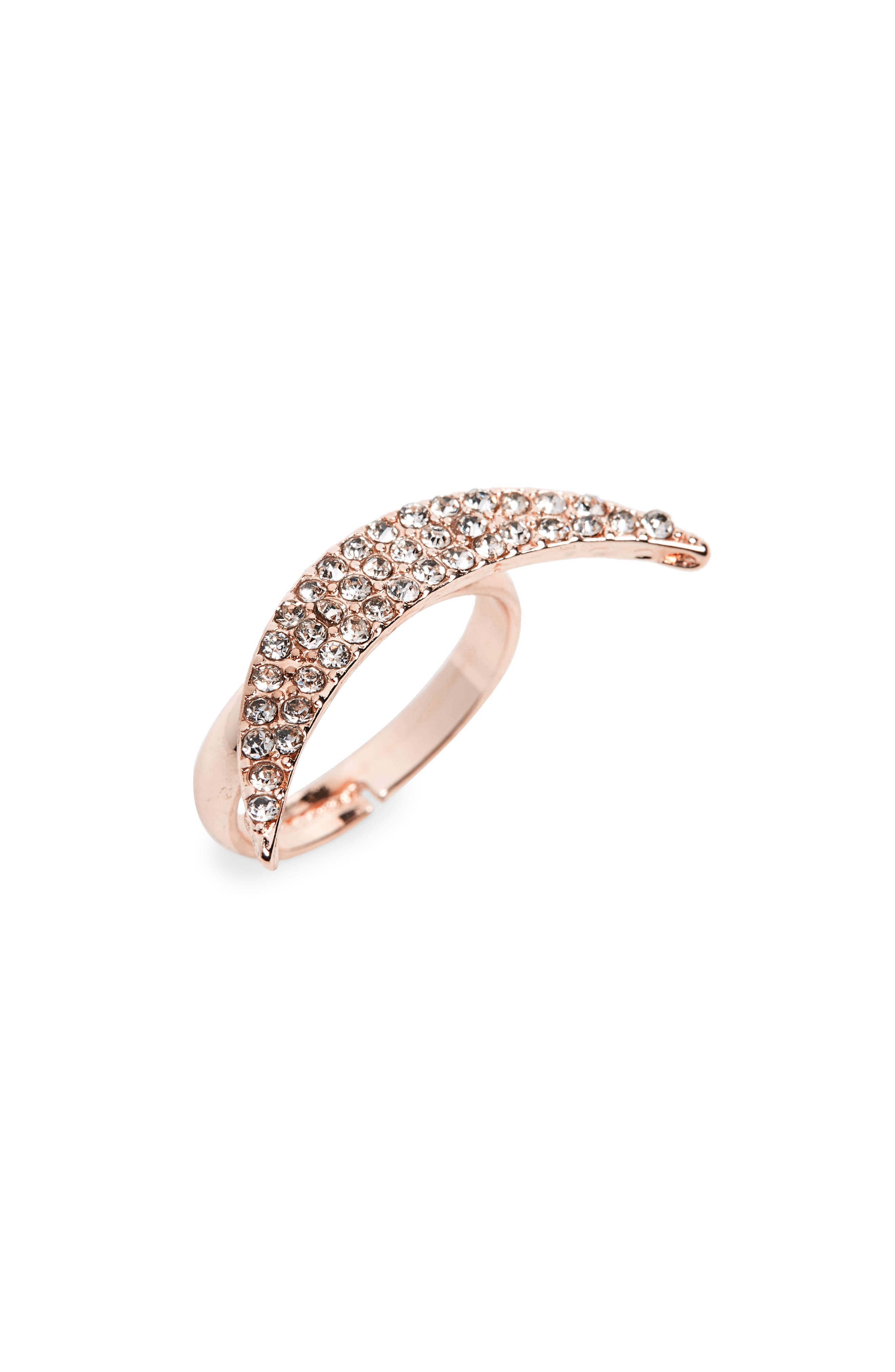 Alternate Image 1 Selected - Natasha Half Moon Crystal Ring