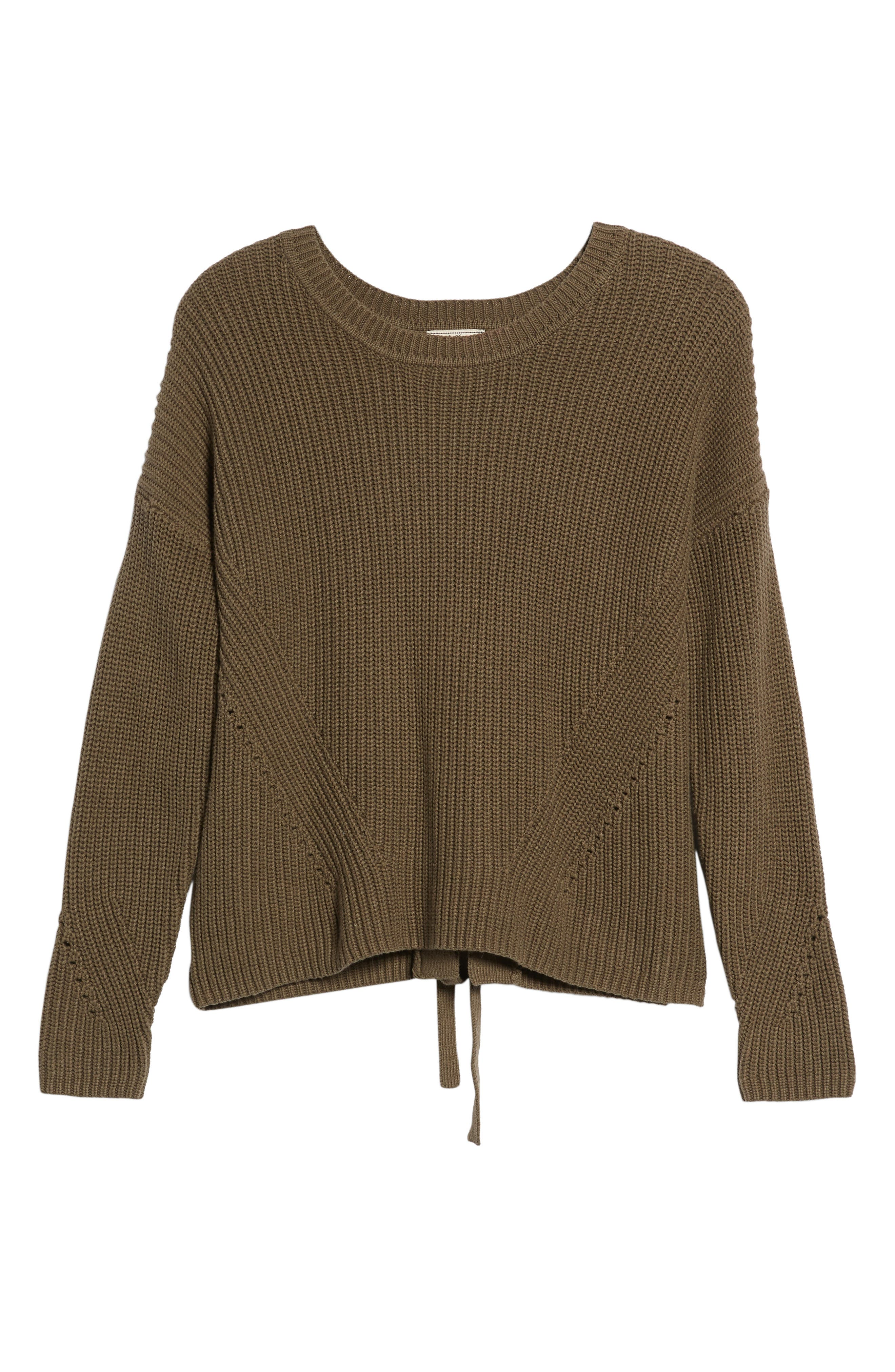 Alternate Image 6  - Lucky Brand Lace-Up Back Sweater